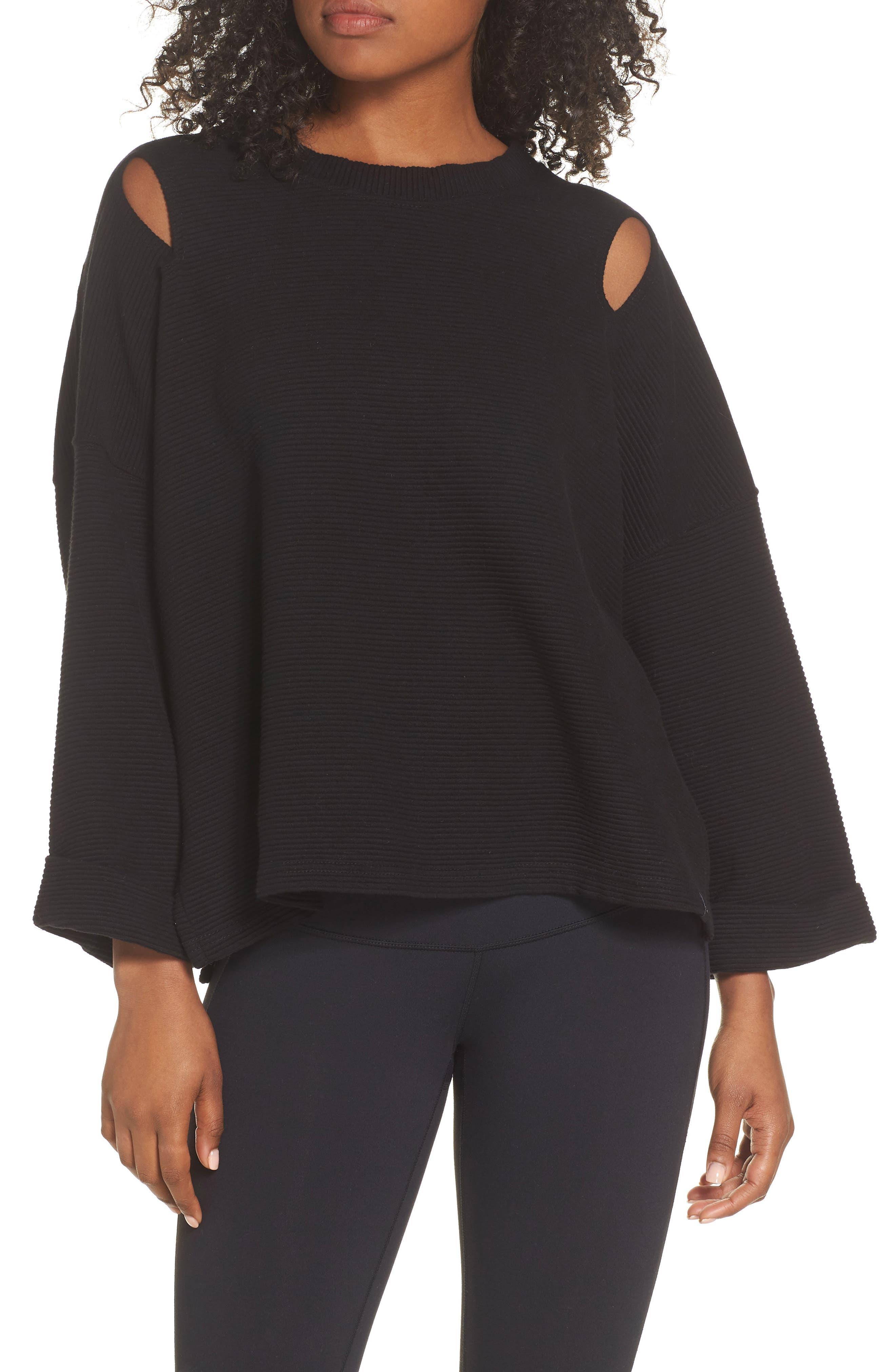 Jenny Sweatshirt,                         Main,                         color, BLACK