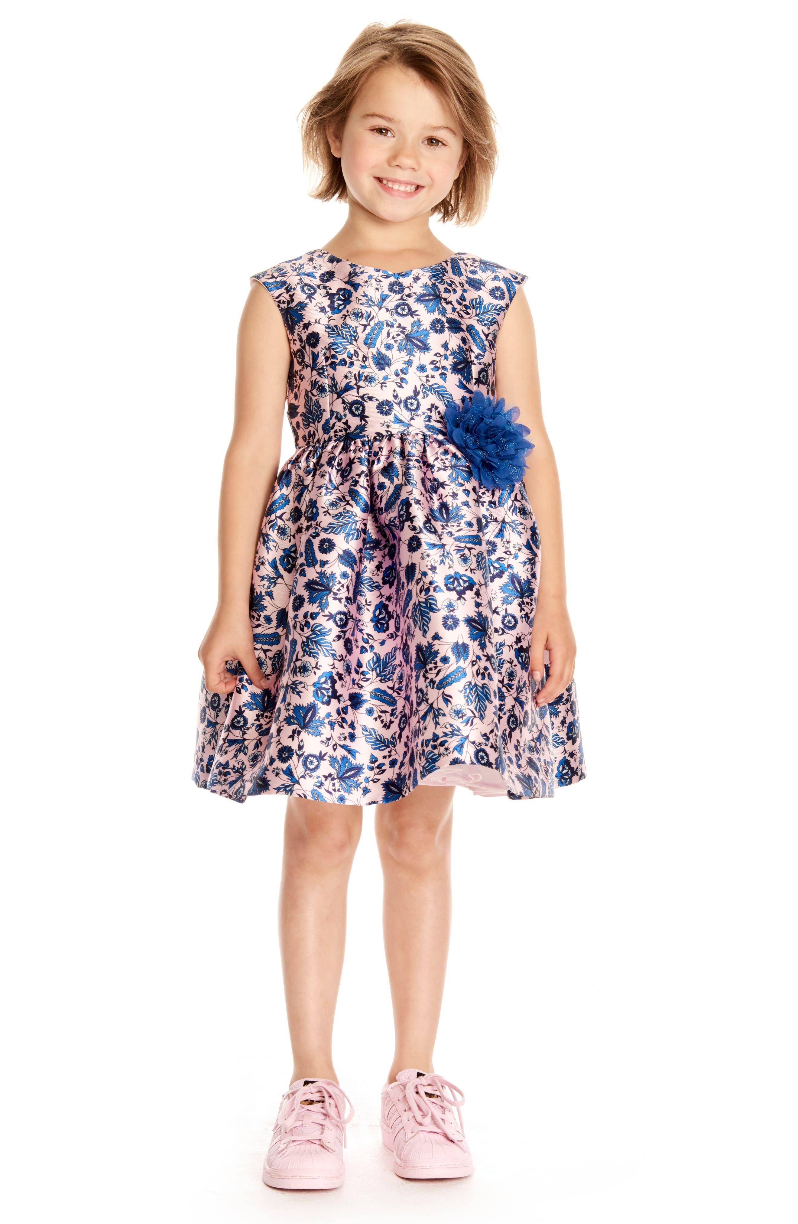 Print Fit & Flare Dress,                             Alternate thumbnail 4, color,                             684