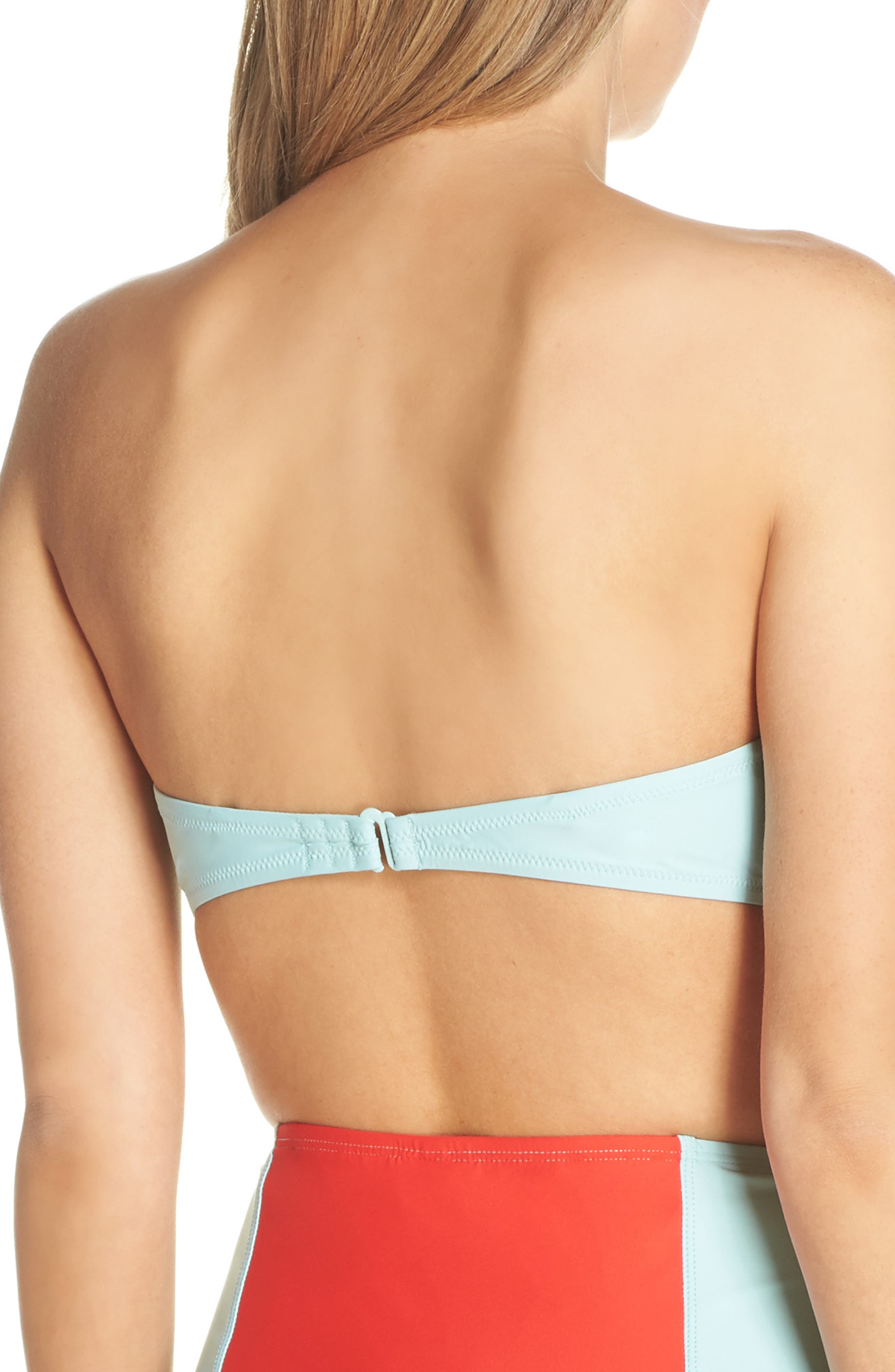 Colorblock Underwire Bikini Top,                             Alternate thumbnail 3, color,                             MINT CERISE PINK