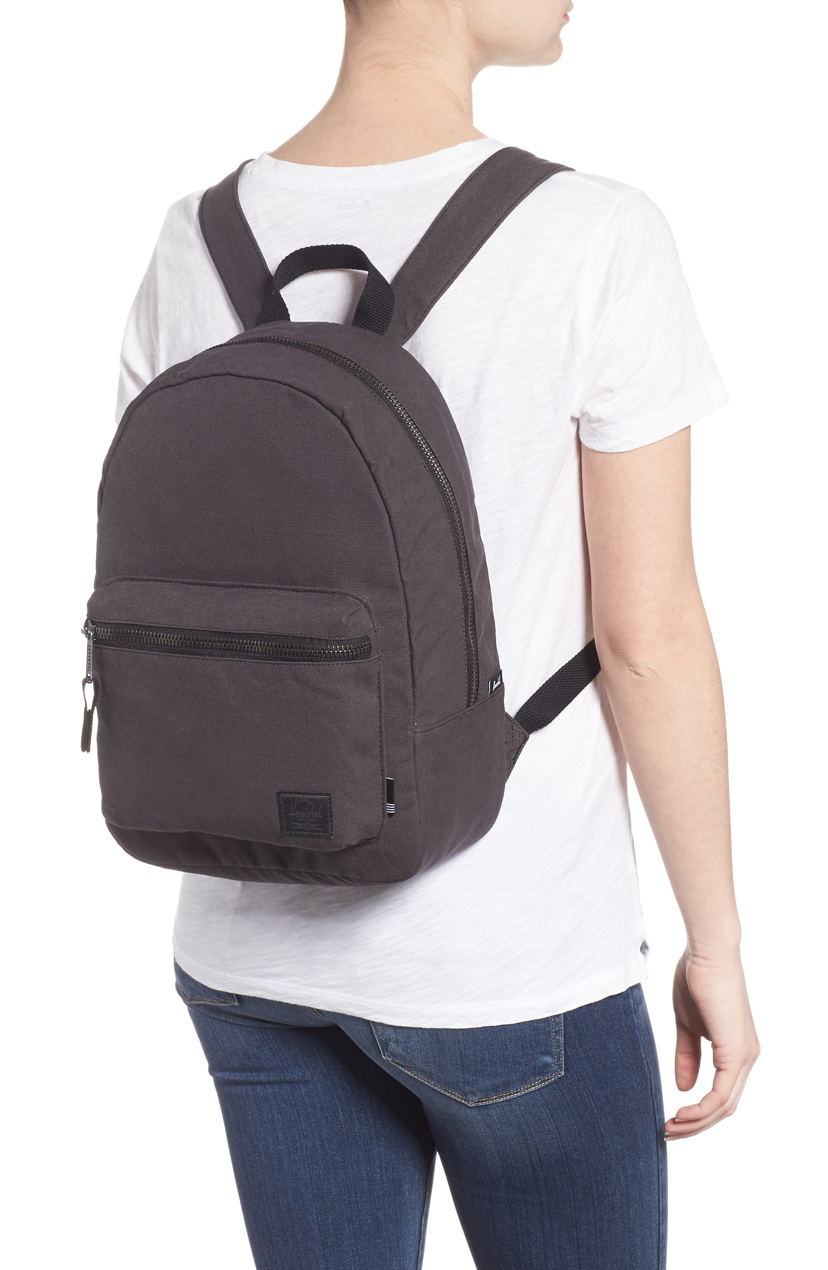 X-Small Grove Cotton Canvas Backpack,                             Alternate thumbnail 2, color,                             001