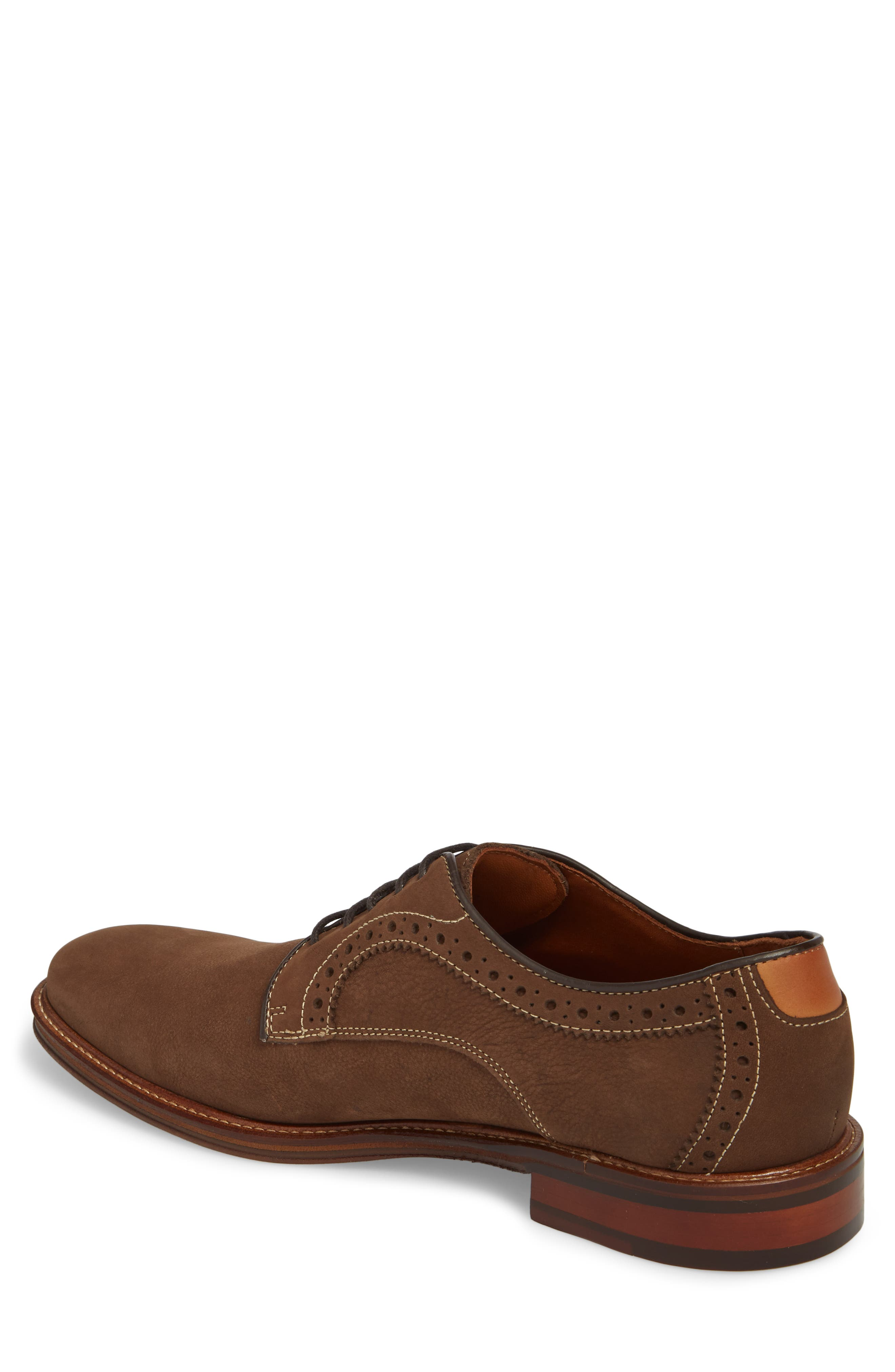 Warner Plain Toe Derby,                             Alternate thumbnail 2, color,                             BROWN NUBUCK