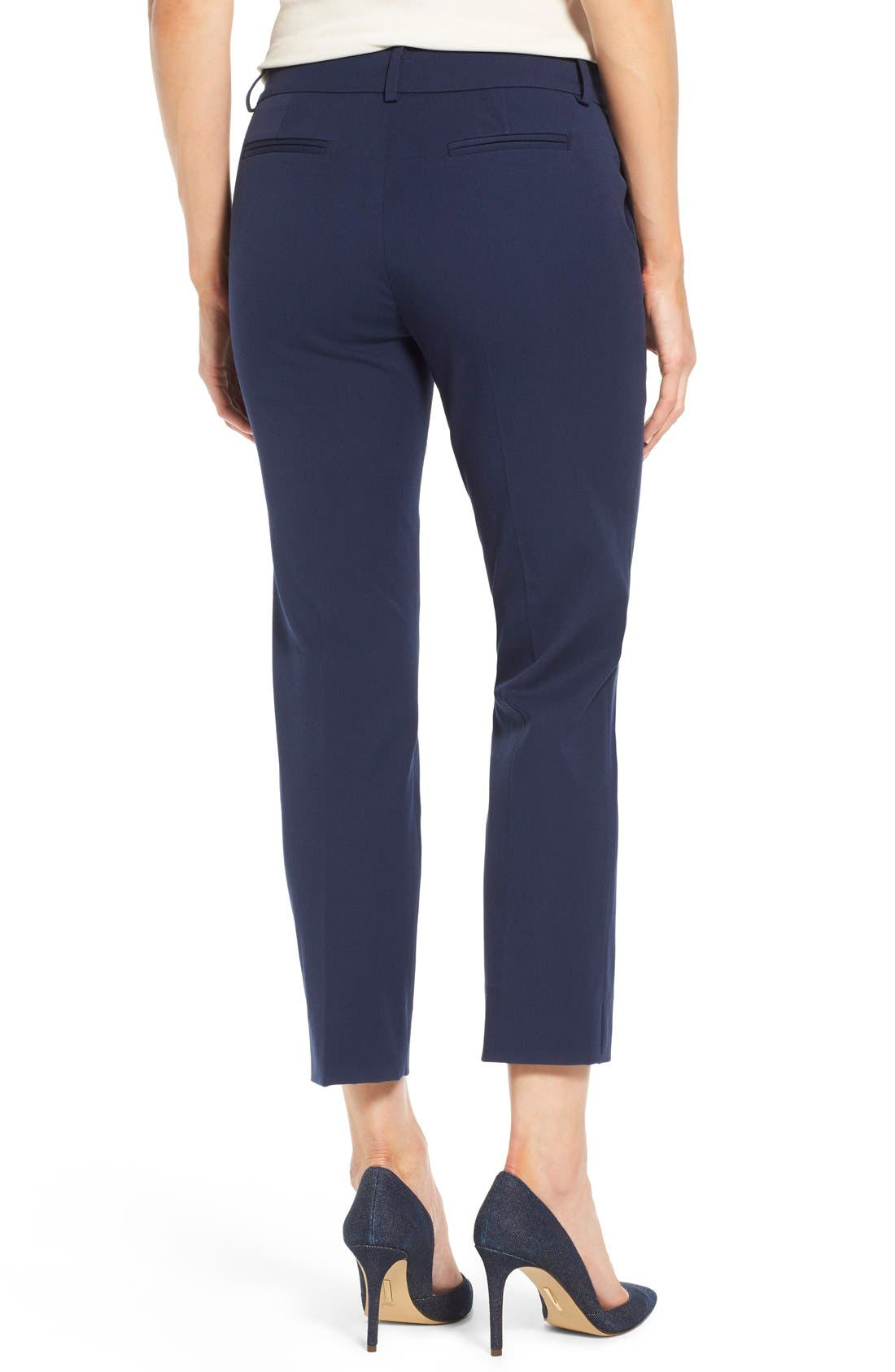 Crop Stretch Cotton Pants,                             Alternate thumbnail 35, color,