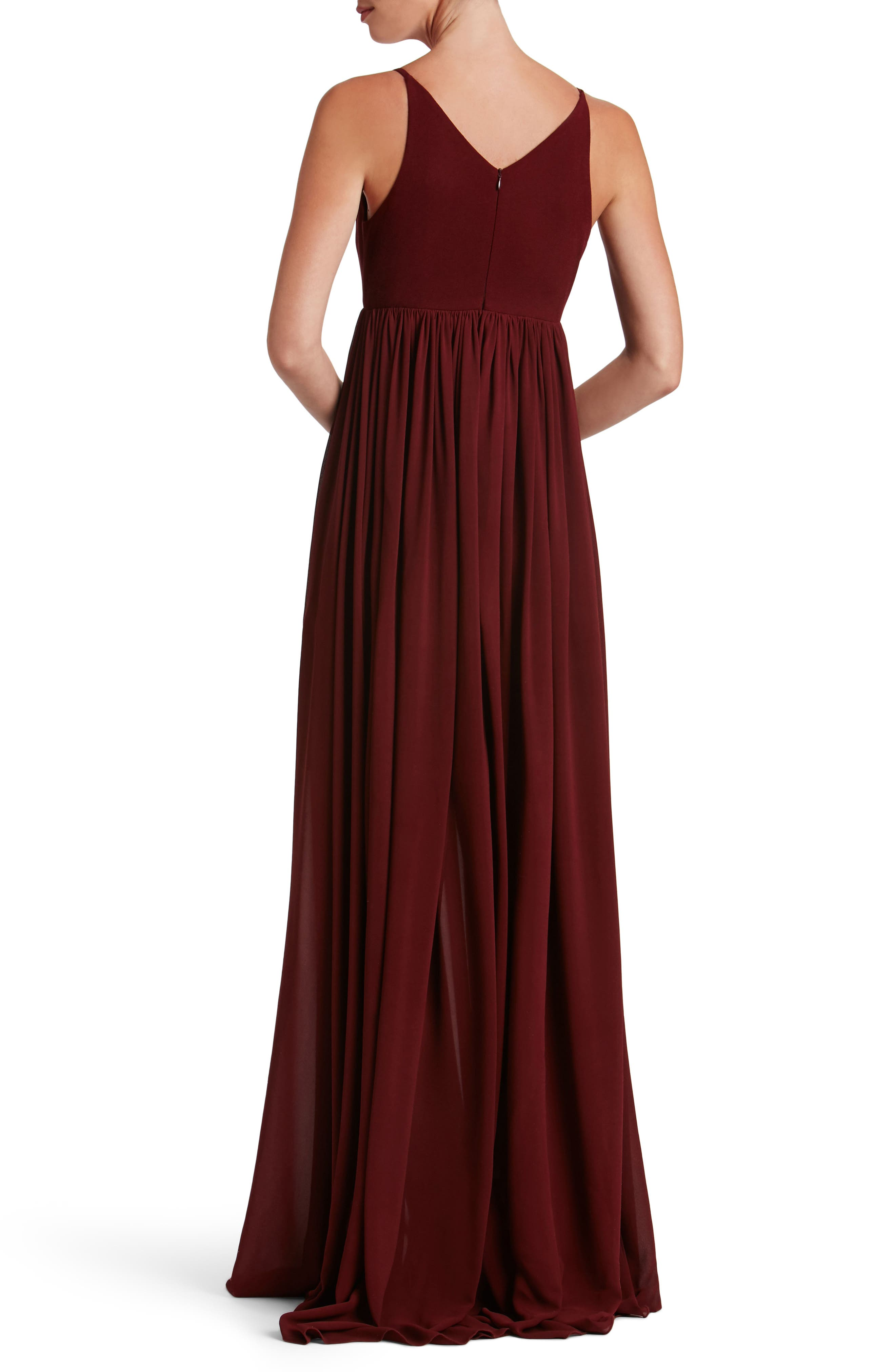Phoebe Chiffon Gown,                             Alternate thumbnail 6, color,