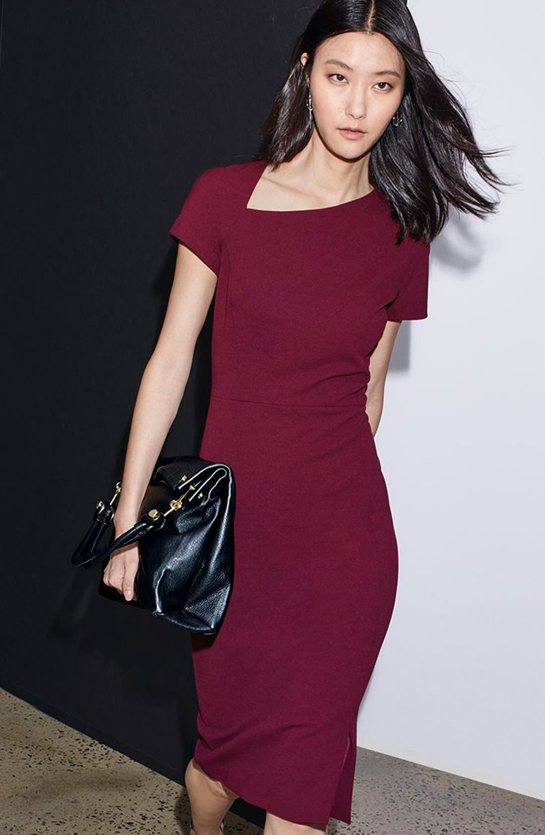 Asymmetrical Sheath Dress,                             Alternate thumbnail 6, color,