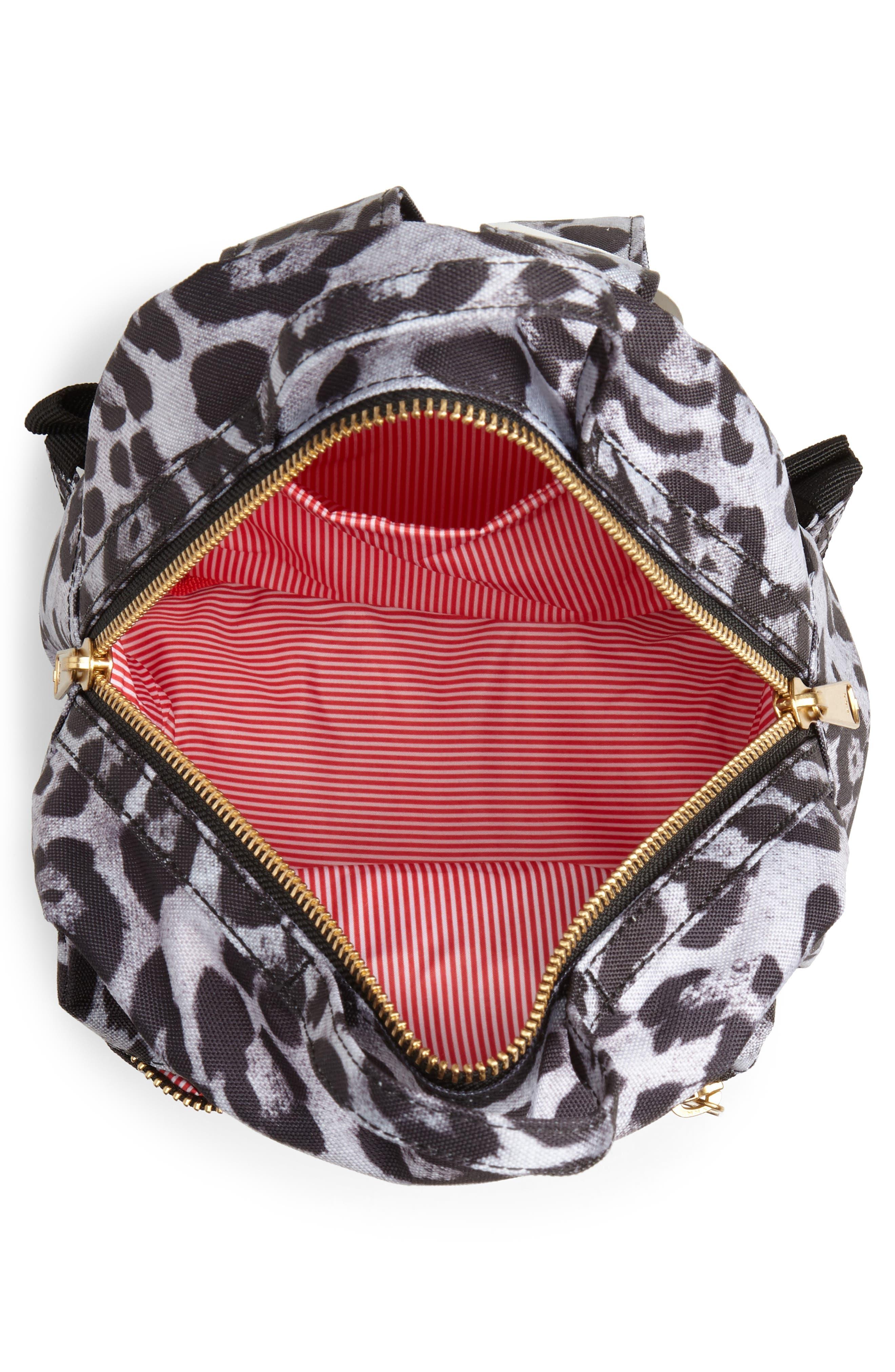 Mini Nova Backpack,                             Alternate thumbnail 4, color,                             SNOW LEOPARD