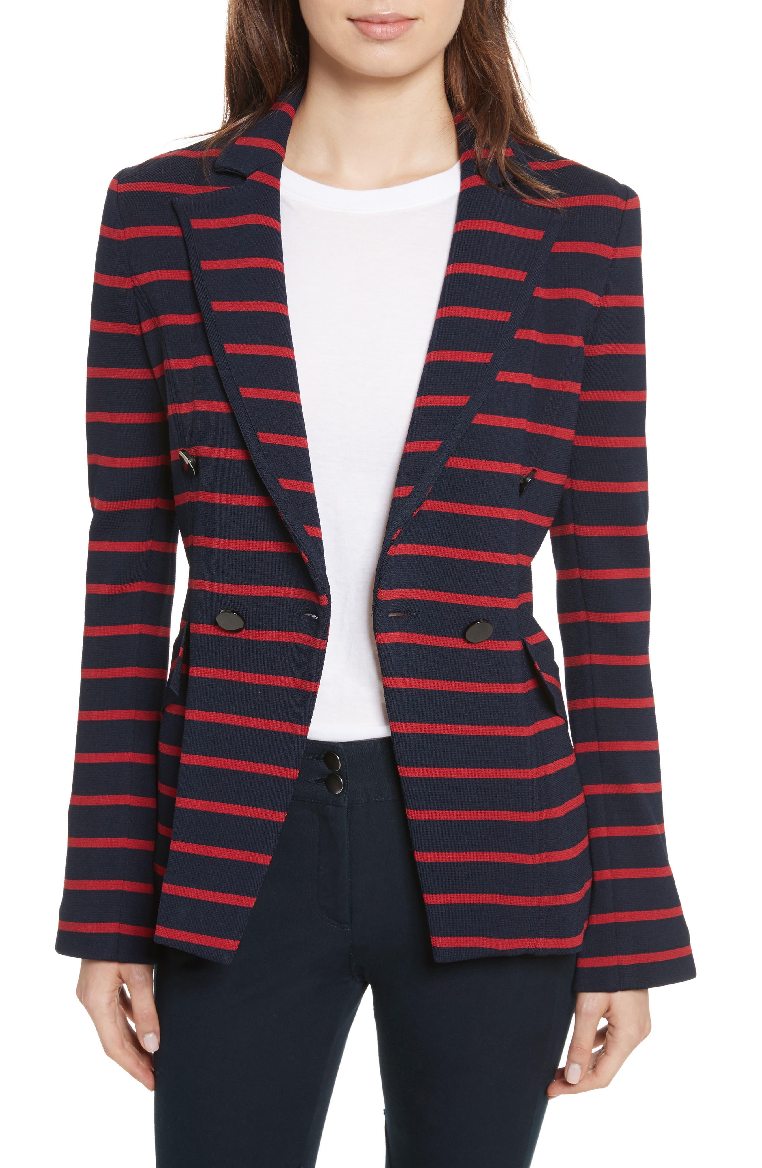 Fontana Stripe Jacket,                             Main thumbnail 1, color,                             414