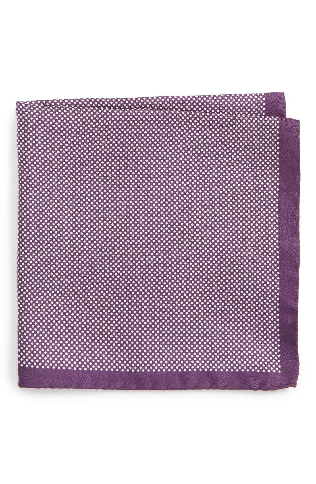 Dot Silk Pocket Square,                             Main thumbnail 6, color,