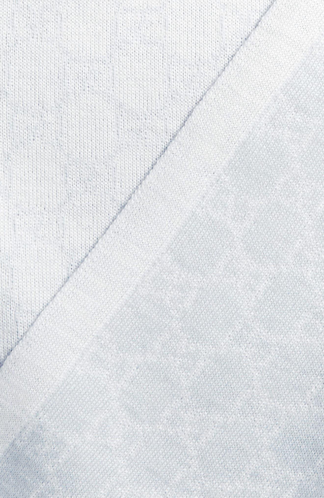 Wool Baby Blanket,                             Alternate thumbnail 2, color,                             IVORY/ SKY BLUE