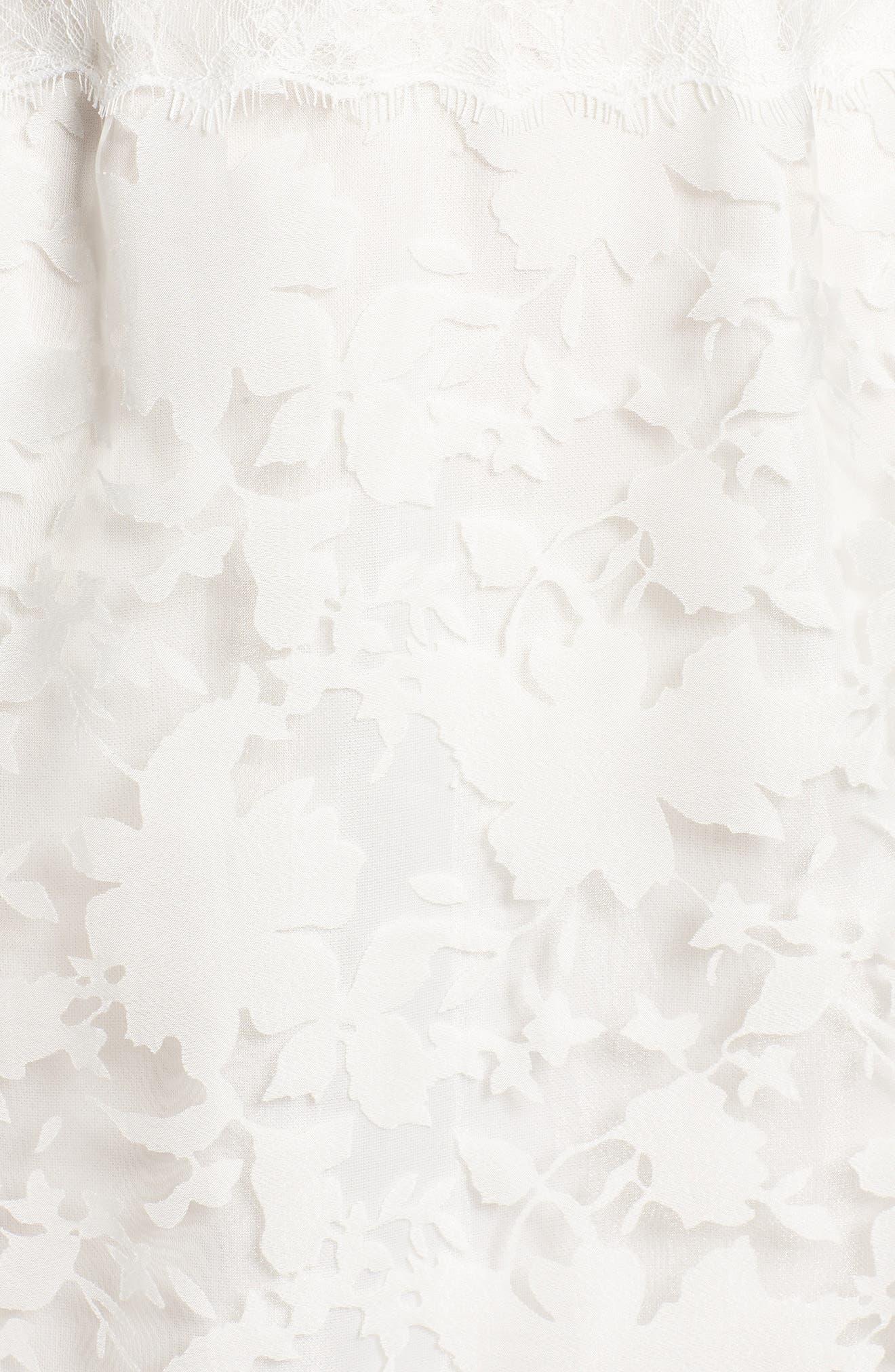 Organza Lace Sheath Dress,                             Alternate thumbnail 6, color,