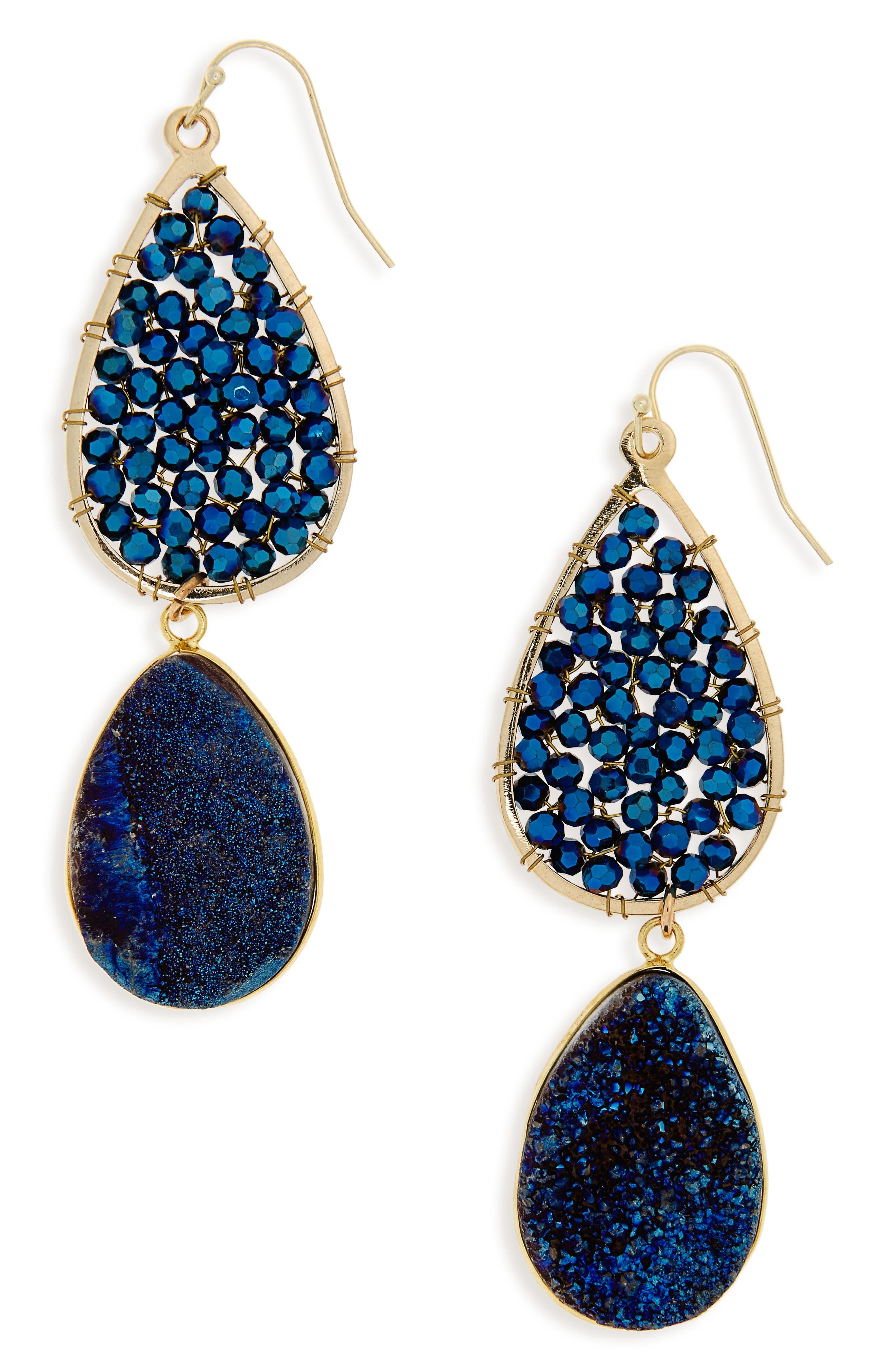 Crystal Drop Earrings,                             Main thumbnail 1, color,                             410