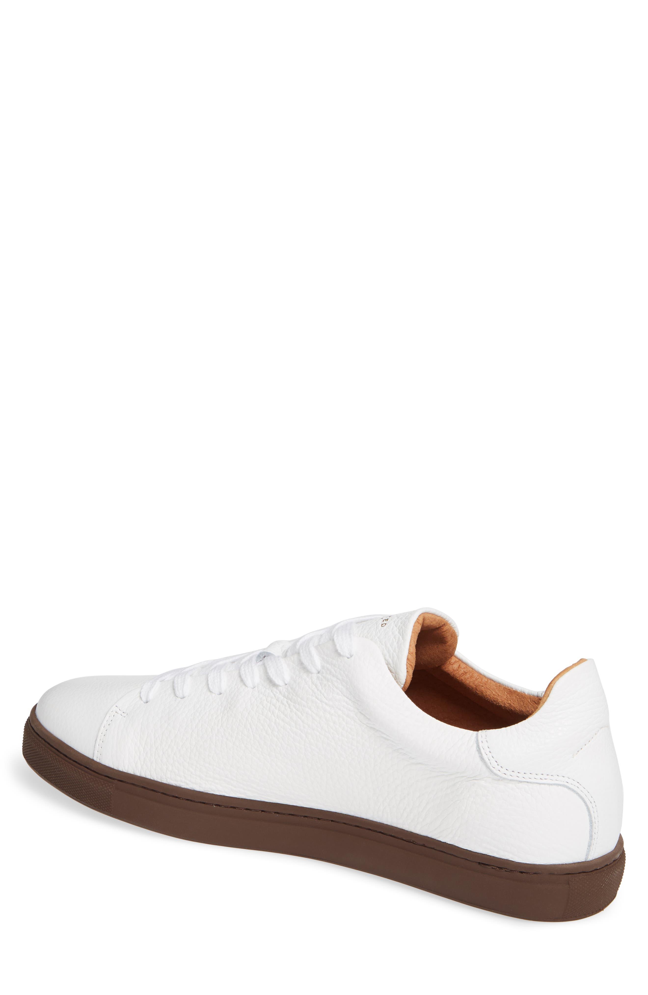David Sneaker,                             Alternate thumbnail 2, color,                             WHITE/ BURGUNDY SOLE