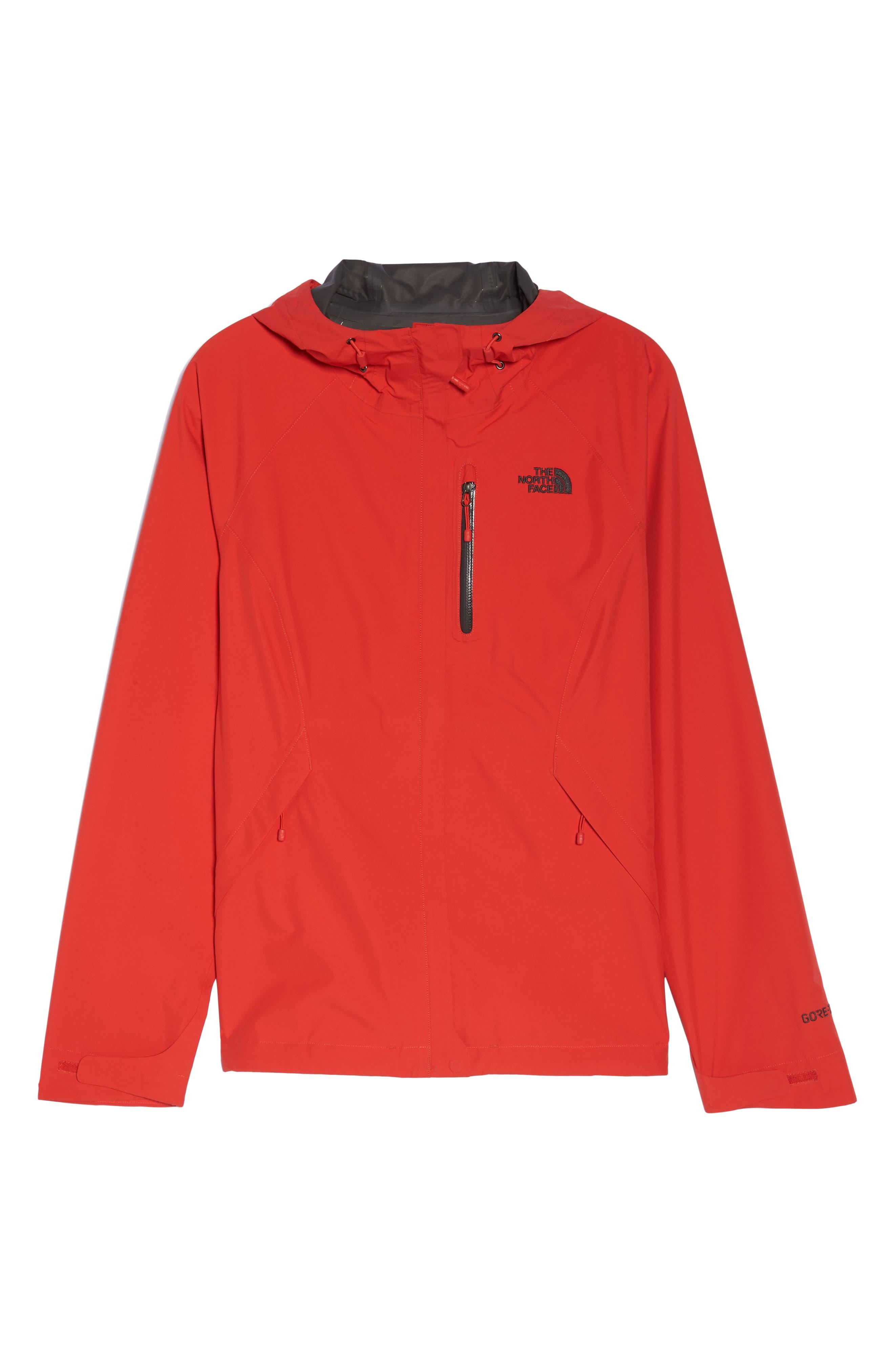 'Dryzzle' Hooded Jacket,                             Alternate thumbnail 6, color,                             JUICY RED