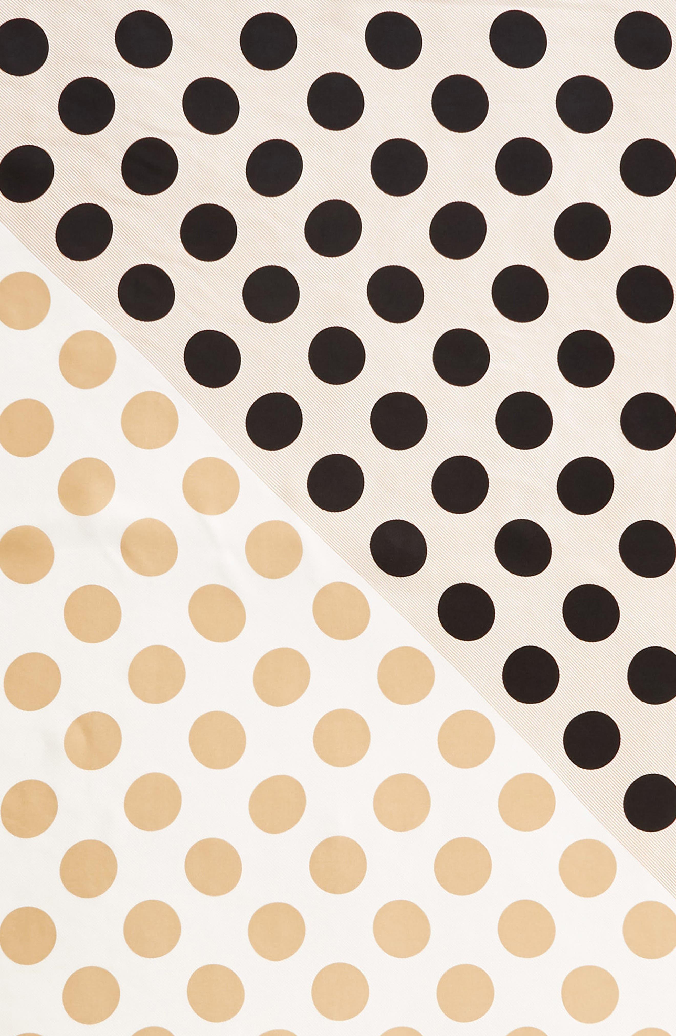 Polka Stripe Square Silk Scarf,                             Alternate thumbnail 10, color,