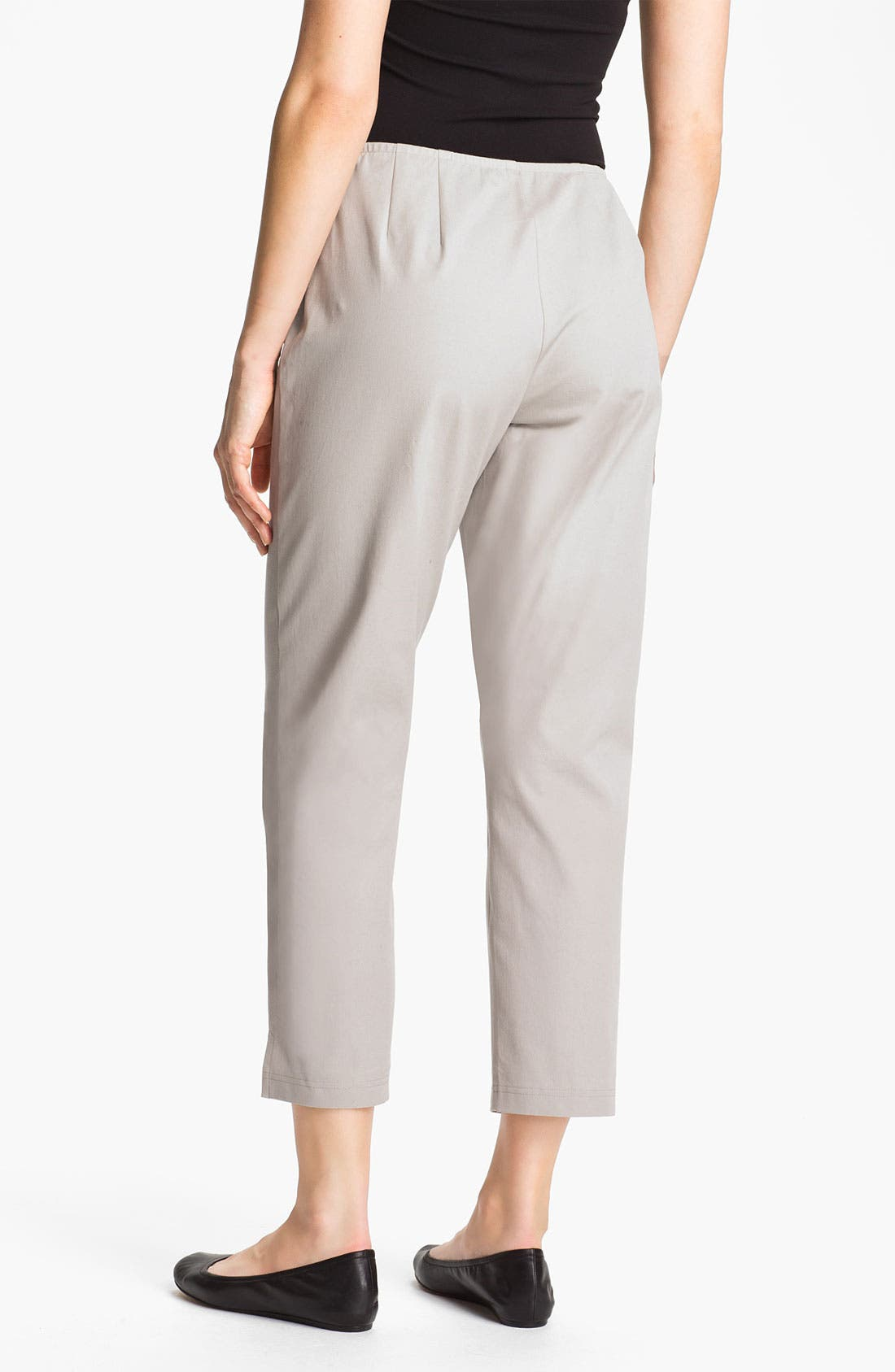 Organic Stretch Cotton Twill Ankle Pants,                             Alternate thumbnail 27, color,