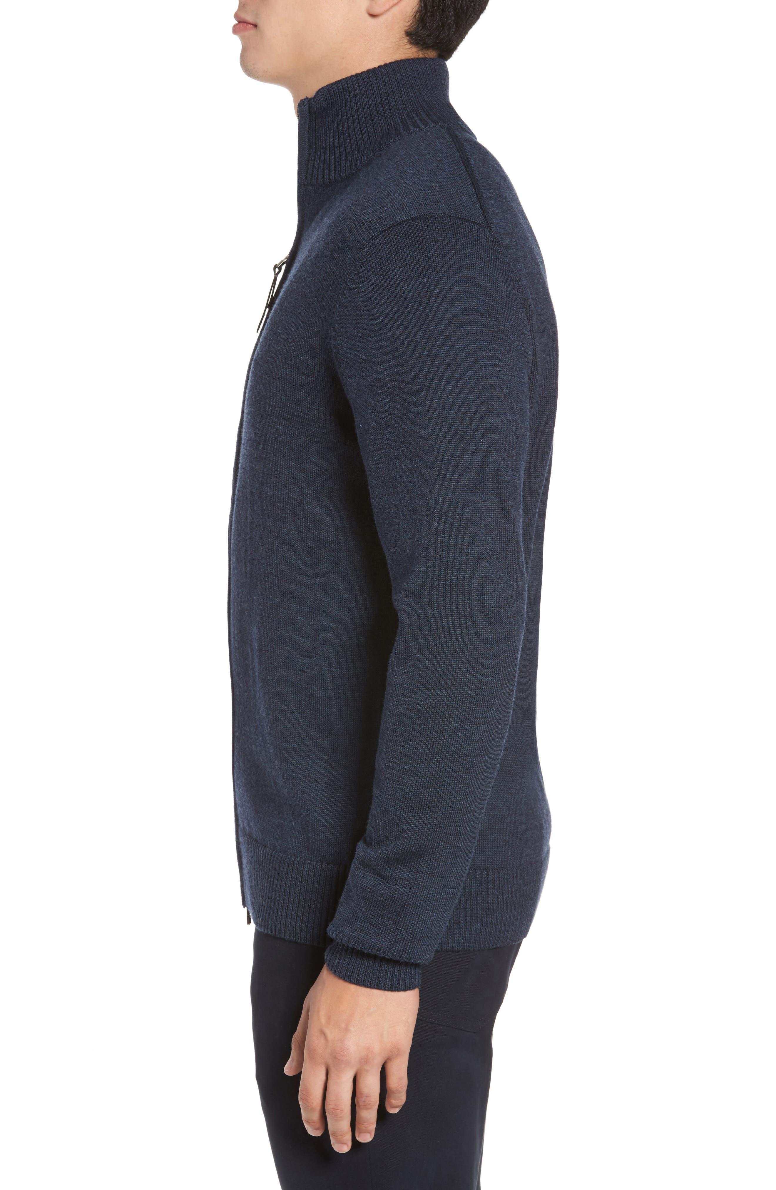 Roaring Meg Zip Wool Sweater,                             Alternate thumbnail 3, color,                             401