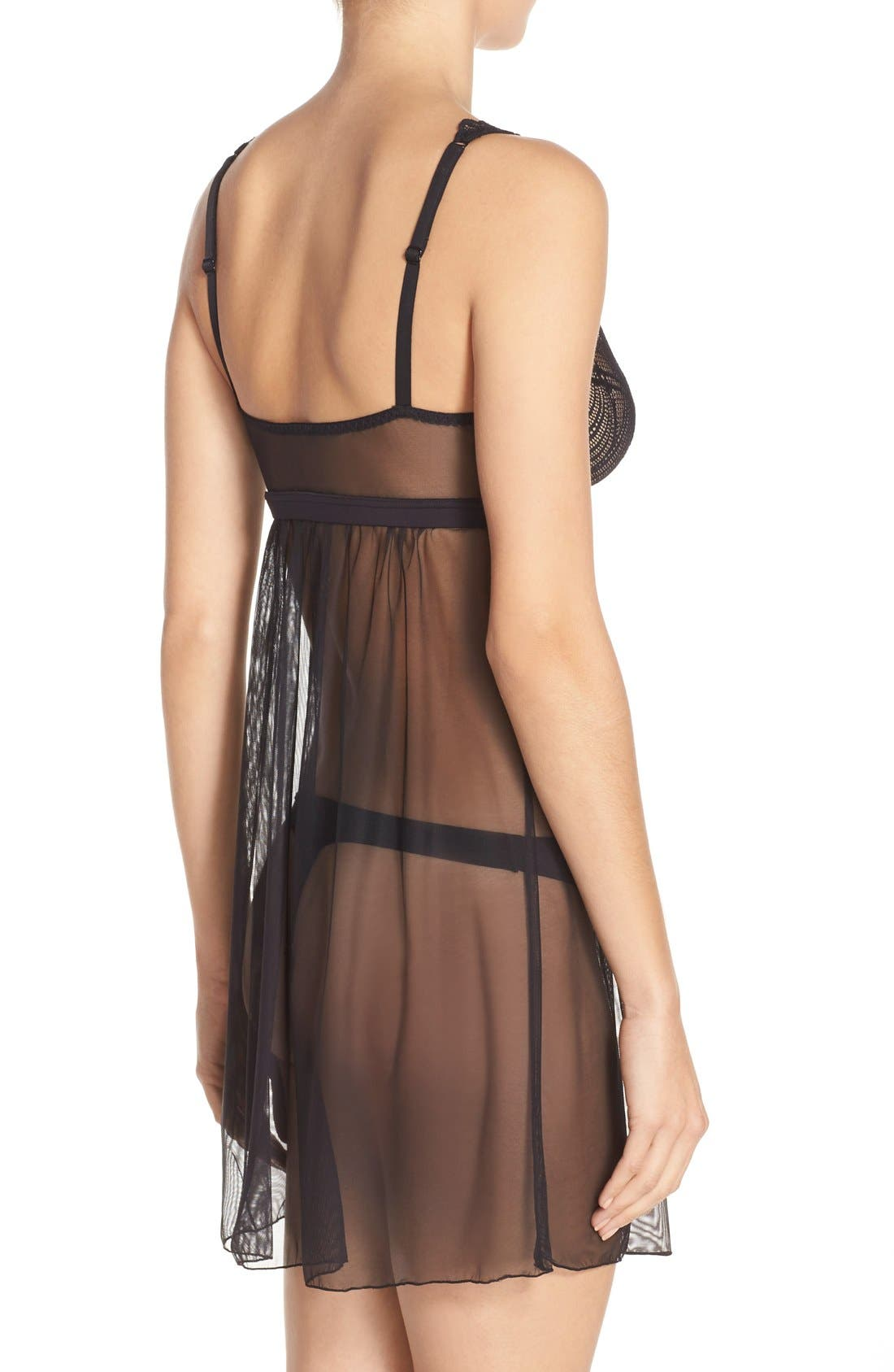 'Minoa' Babydoll Chemise,                             Alternate thumbnail 2, color,                             001