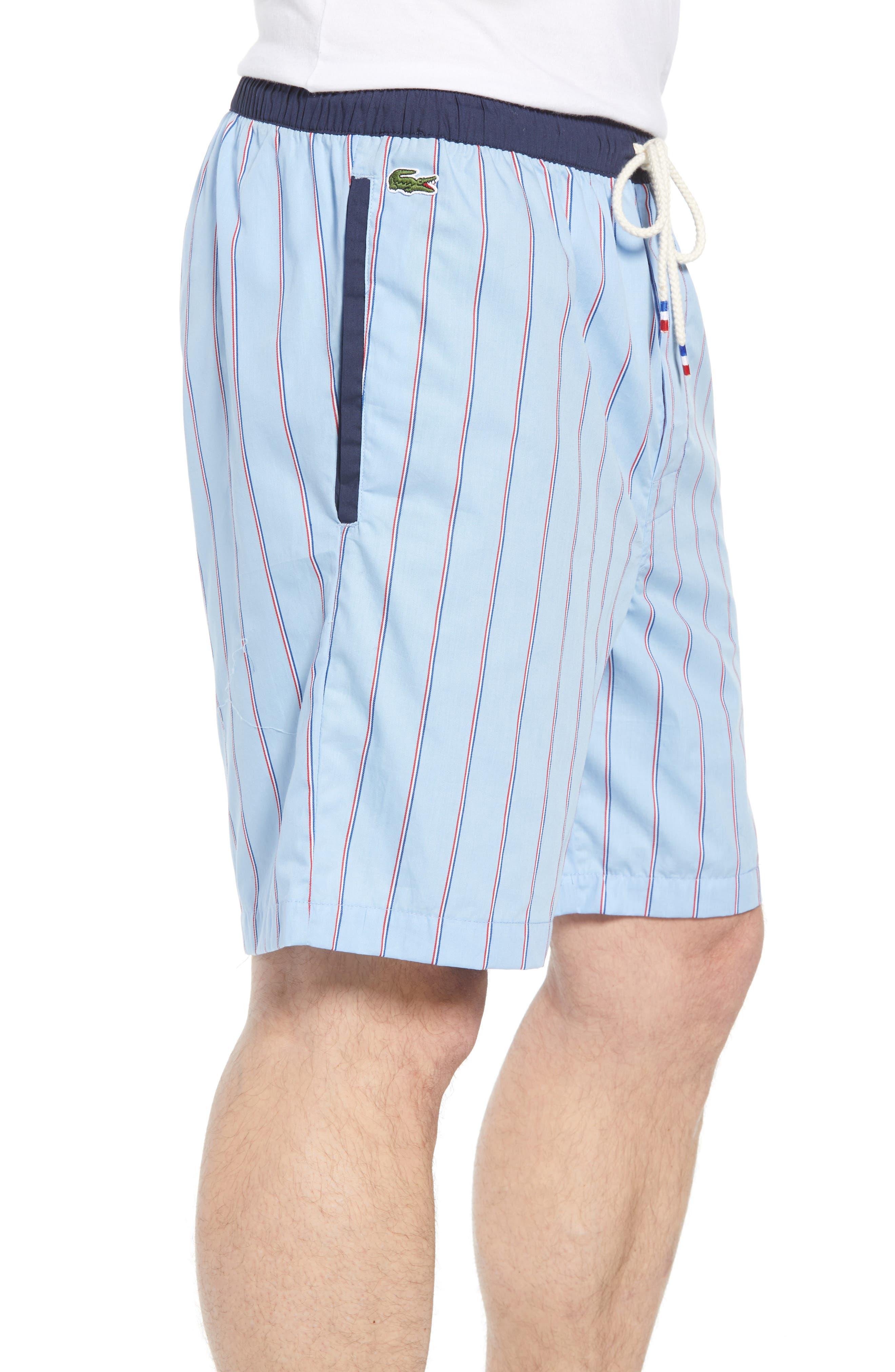 Cotton Sleep Shorts,                             Alternate thumbnail 3, color,                             OMPHALODES