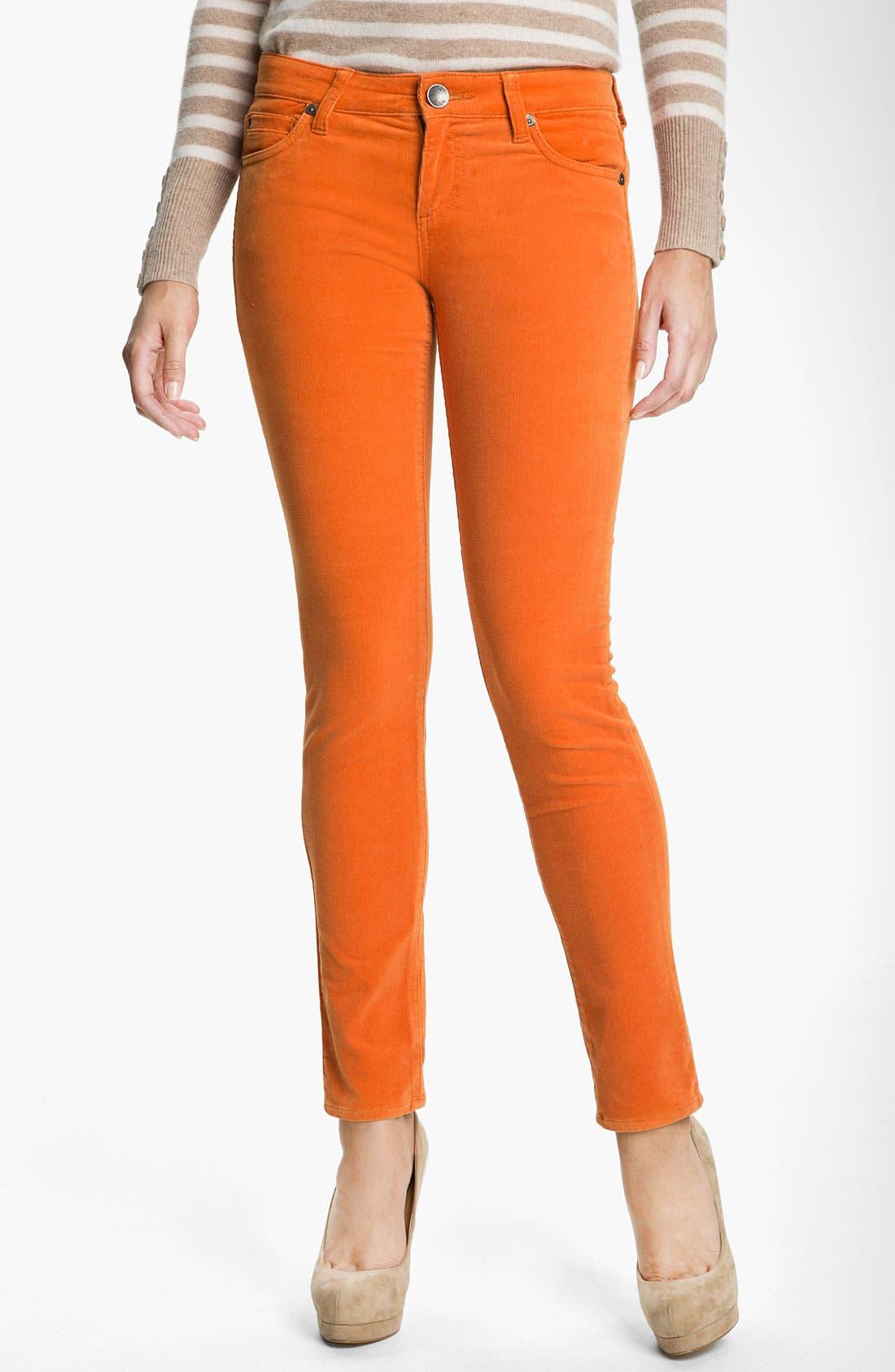 'Diana' Stretch Corduroy Skinny Pants,                             Main thumbnail 48, color,