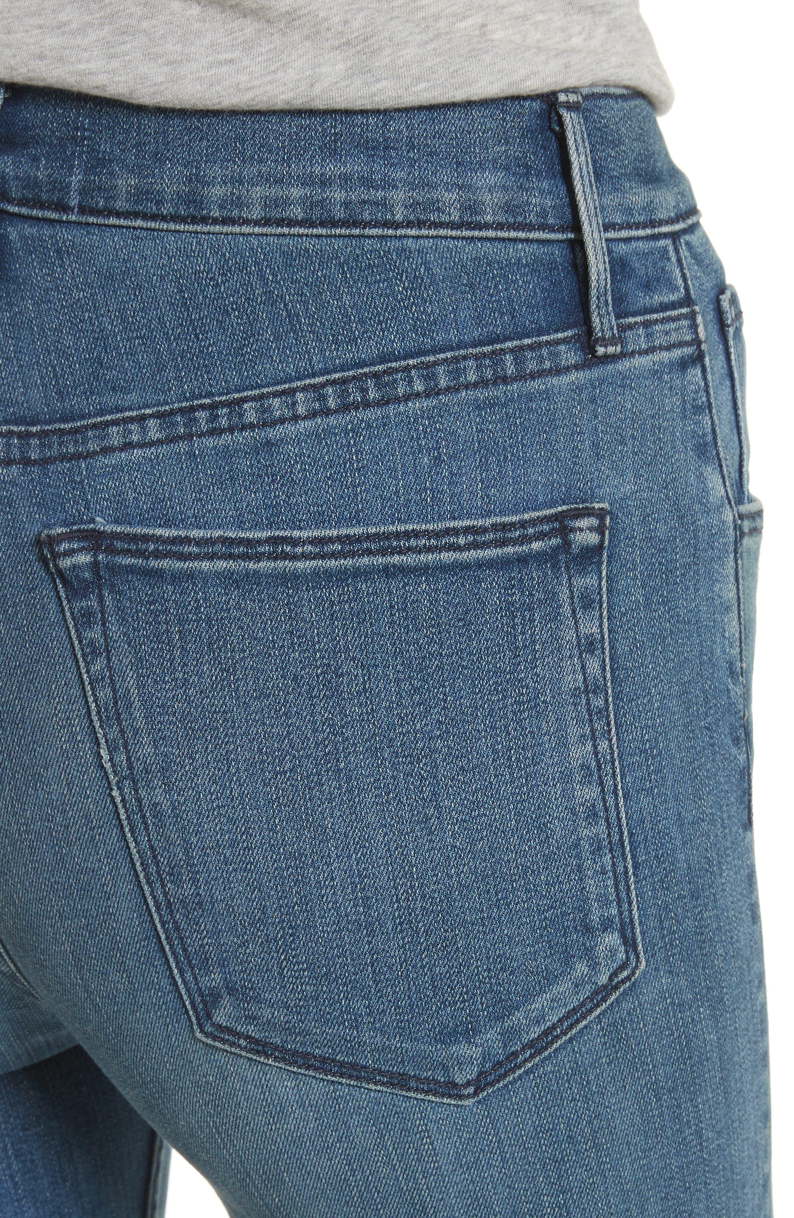 W4 Abigail Released Split Hem Ankle Skinny Jeans,                             Alternate thumbnail 4, color,                             ADY