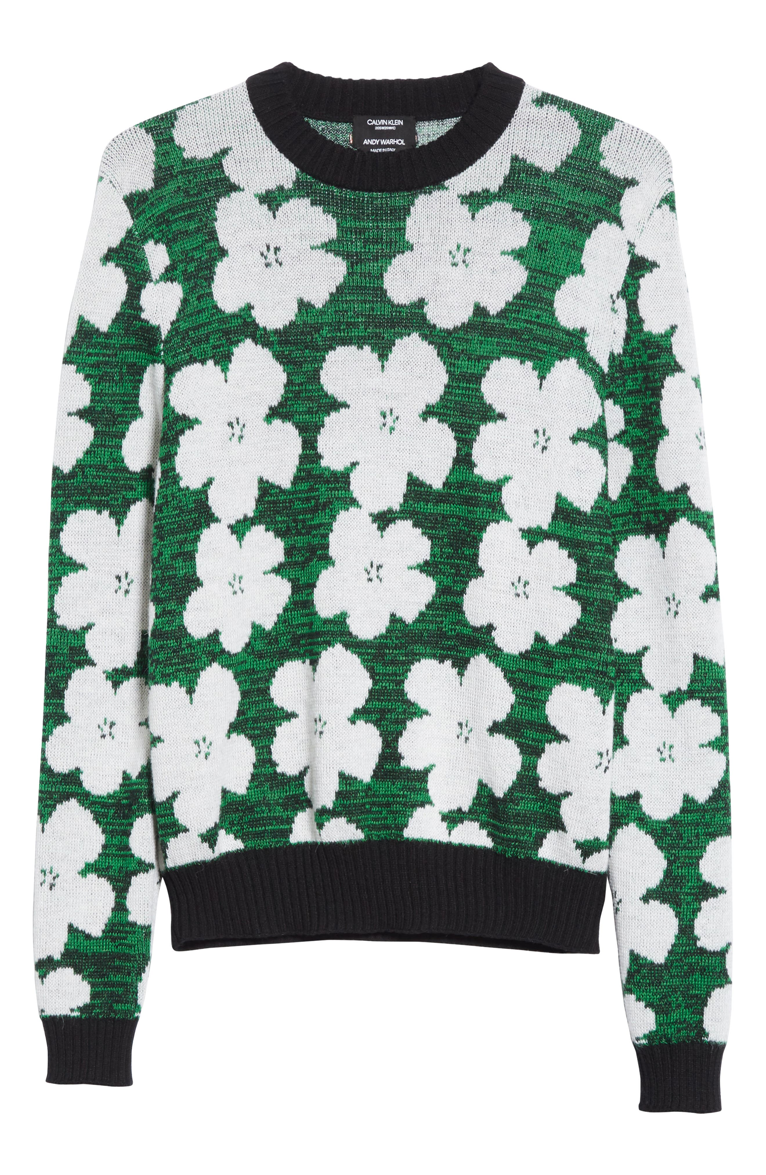 Andy Warhol Flower Sweater,                             Alternate thumbnail 6, color,                             320