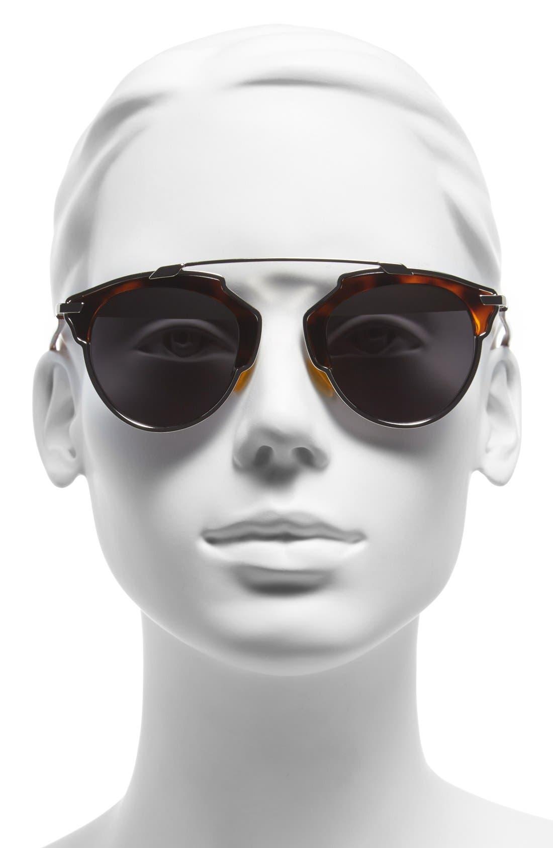 So Real 48mm Brow Bar Sunglasses,                             Alternate thumbnail 35, color,