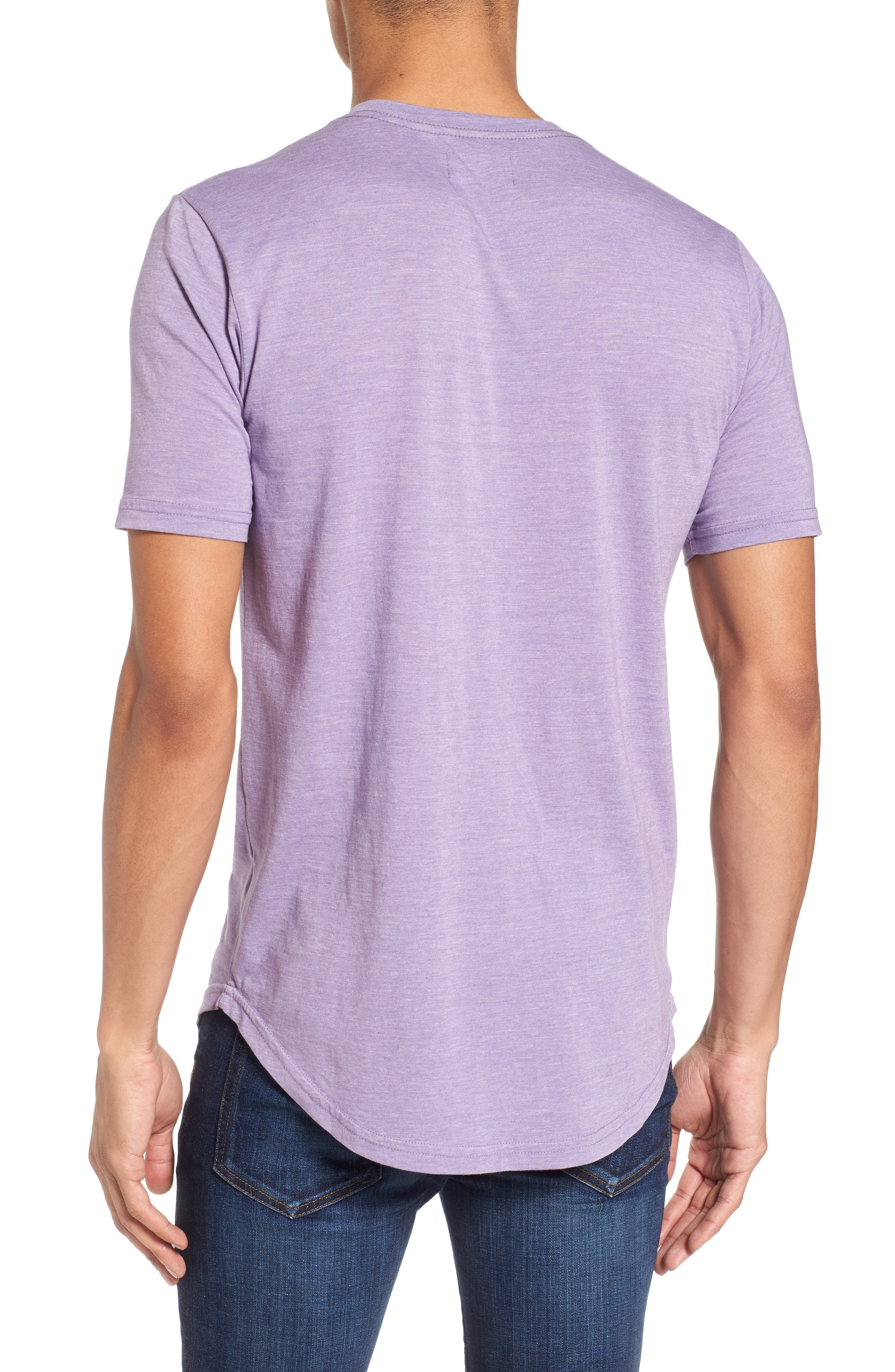 Scallop Triblend V-Neck T-Shirt,                             Alternate thumbnail 34, color,
