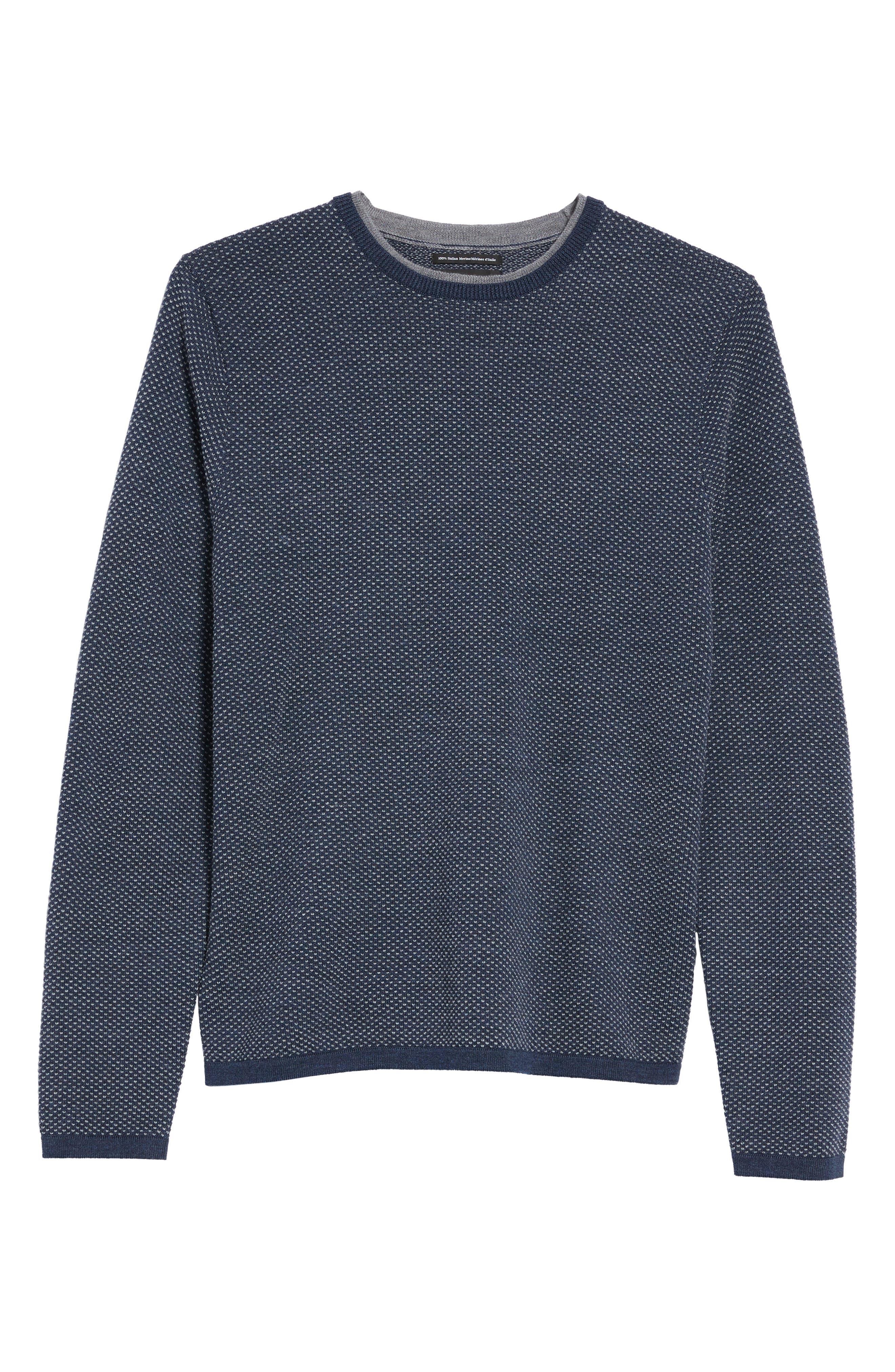 Textured Merino Wool Sweater,                             Alternate thumbnail 6, color,                             410