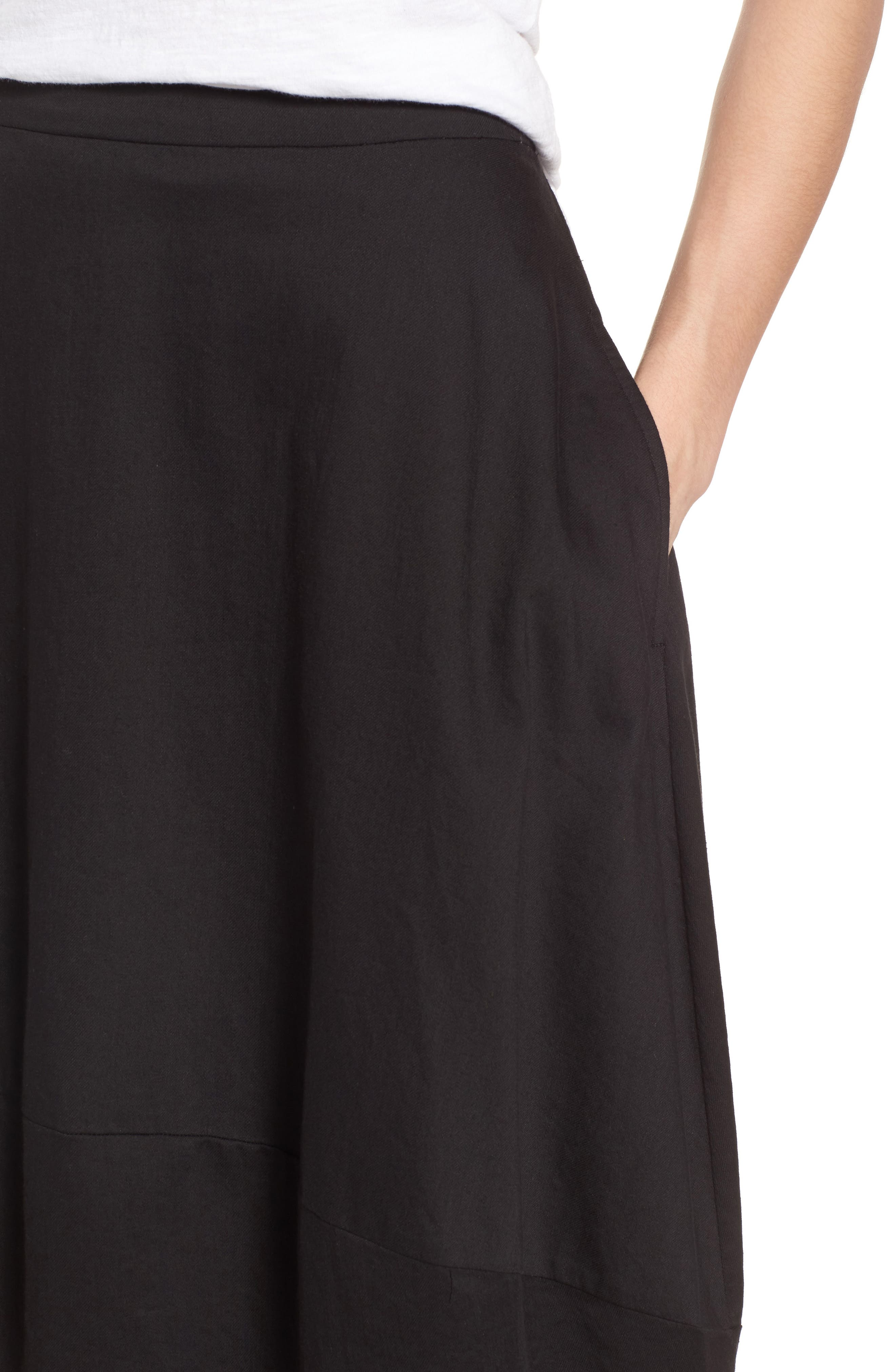 Organic Cotton Lantern Skirt,                             Alternate thumbnail 4, color,                             001