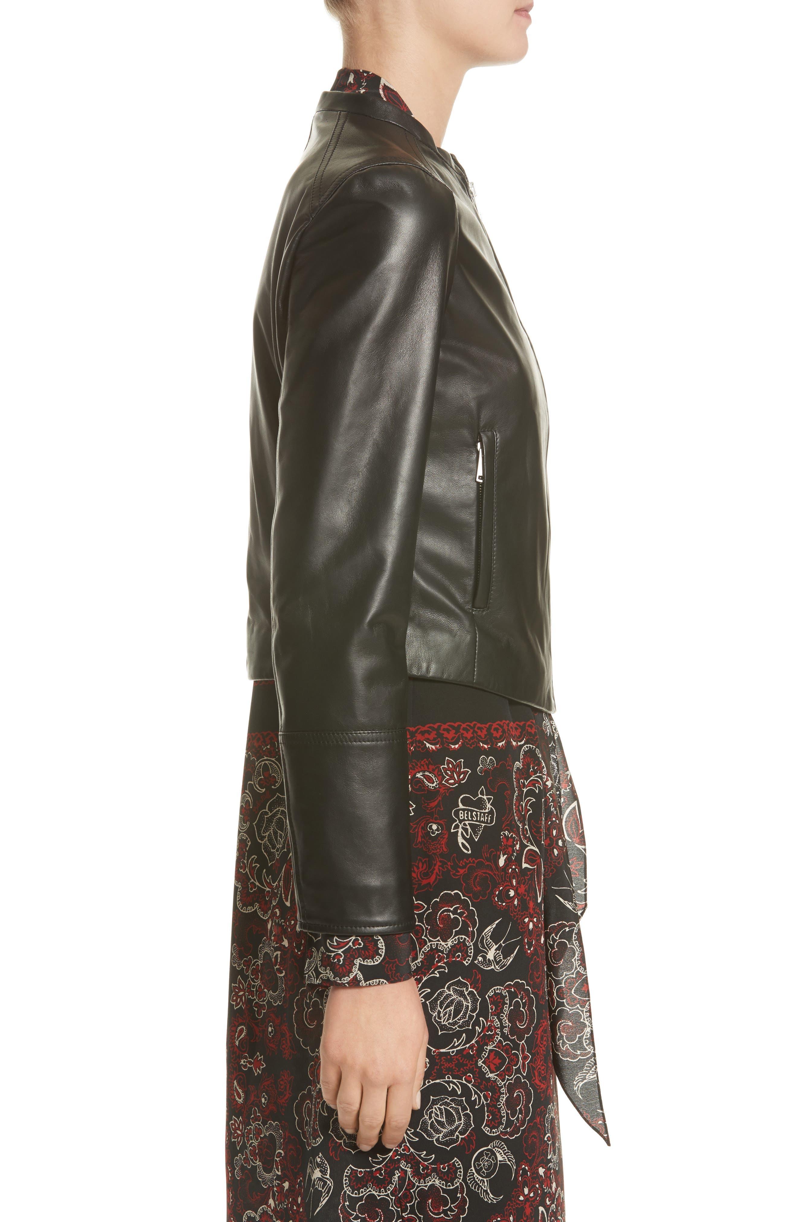 Carrack Leather Jacket,                             Alternate thumbnail 3, color,                             001