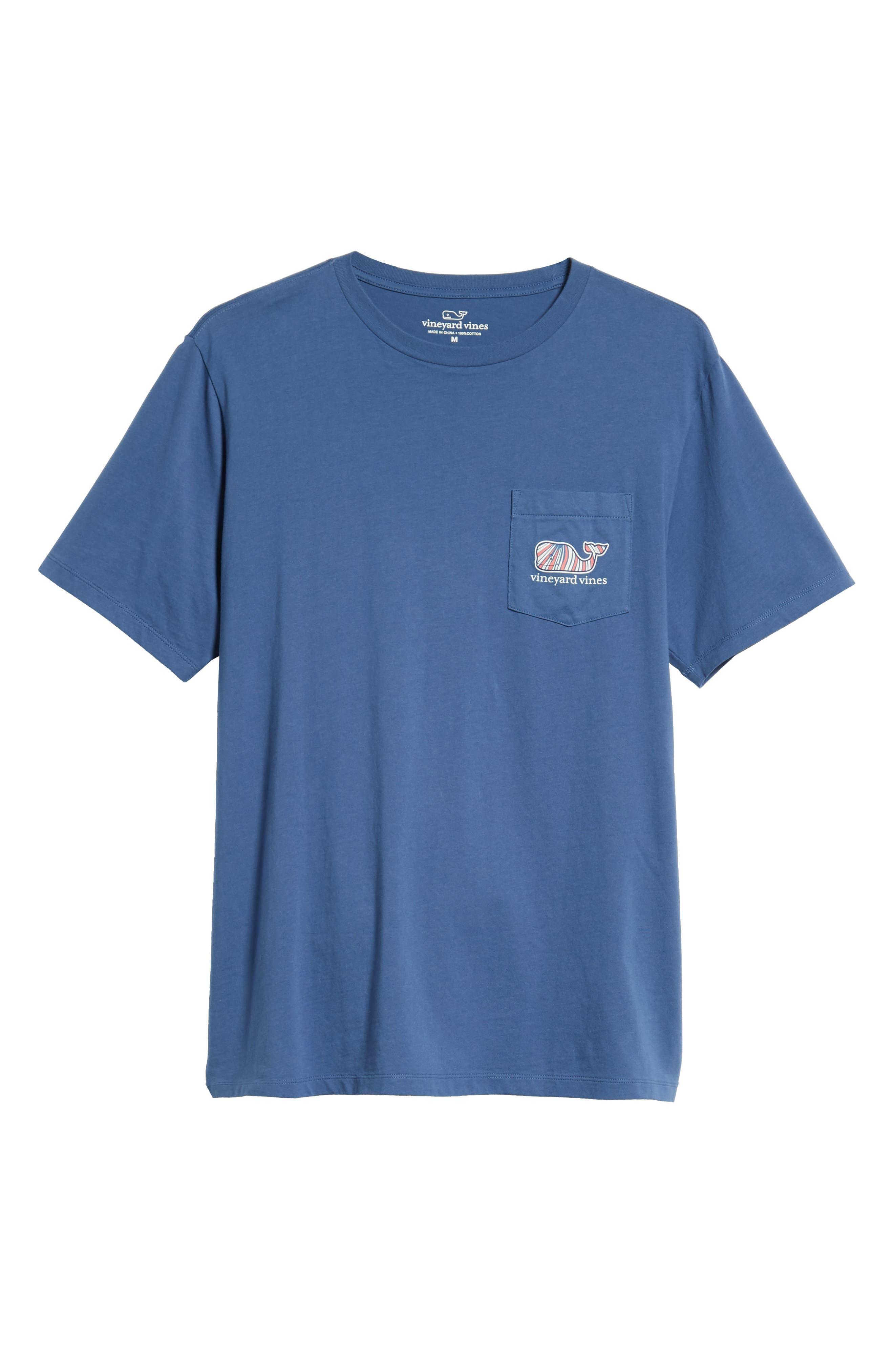 Mermaids Whale Fill Graphic Pocket T-Shirt,                             Alternate thumbnail 6, color,