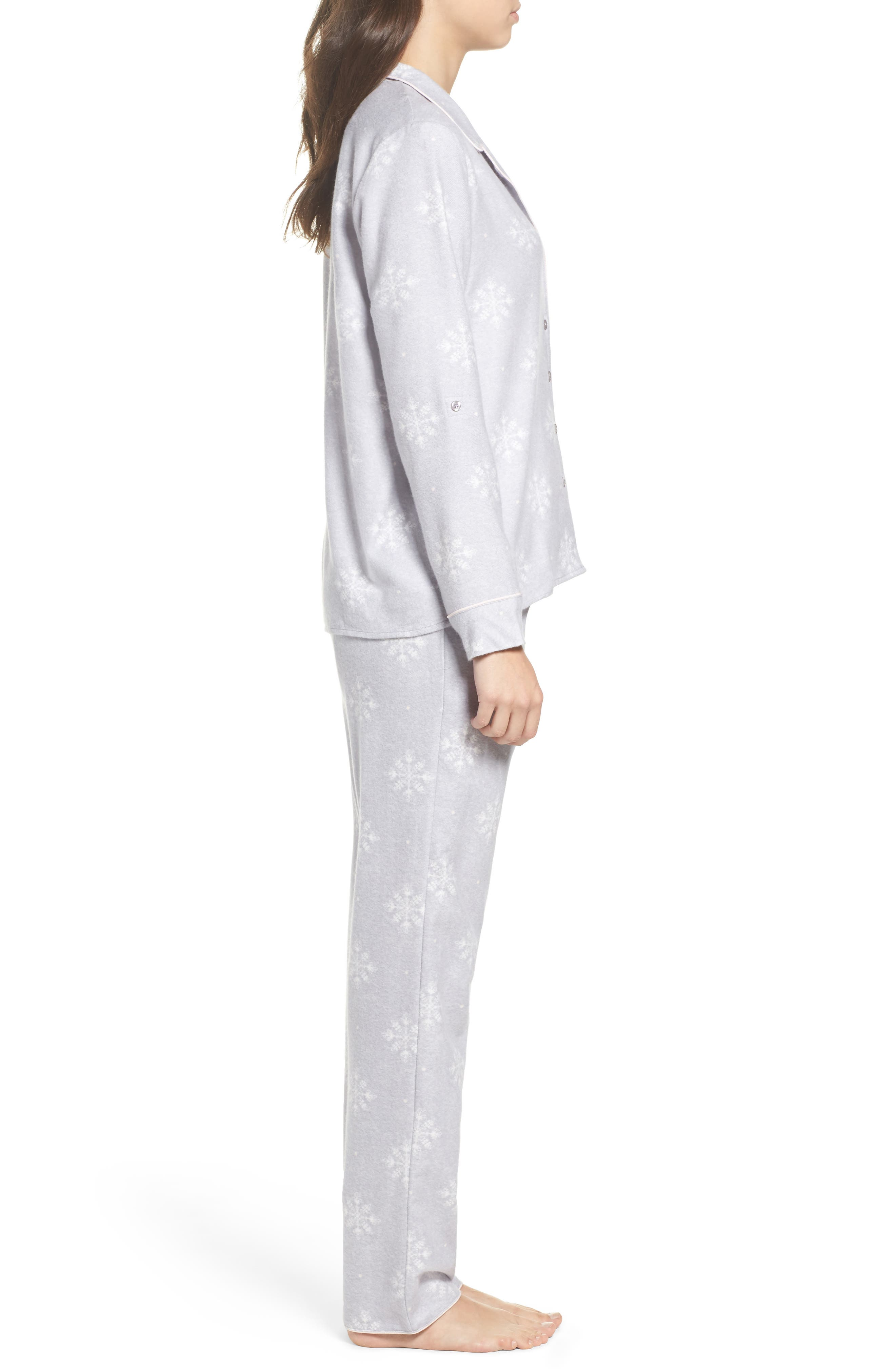 Lingerie Starlight Flannel Pajamas,                             Alternate thumbnail 11, color,