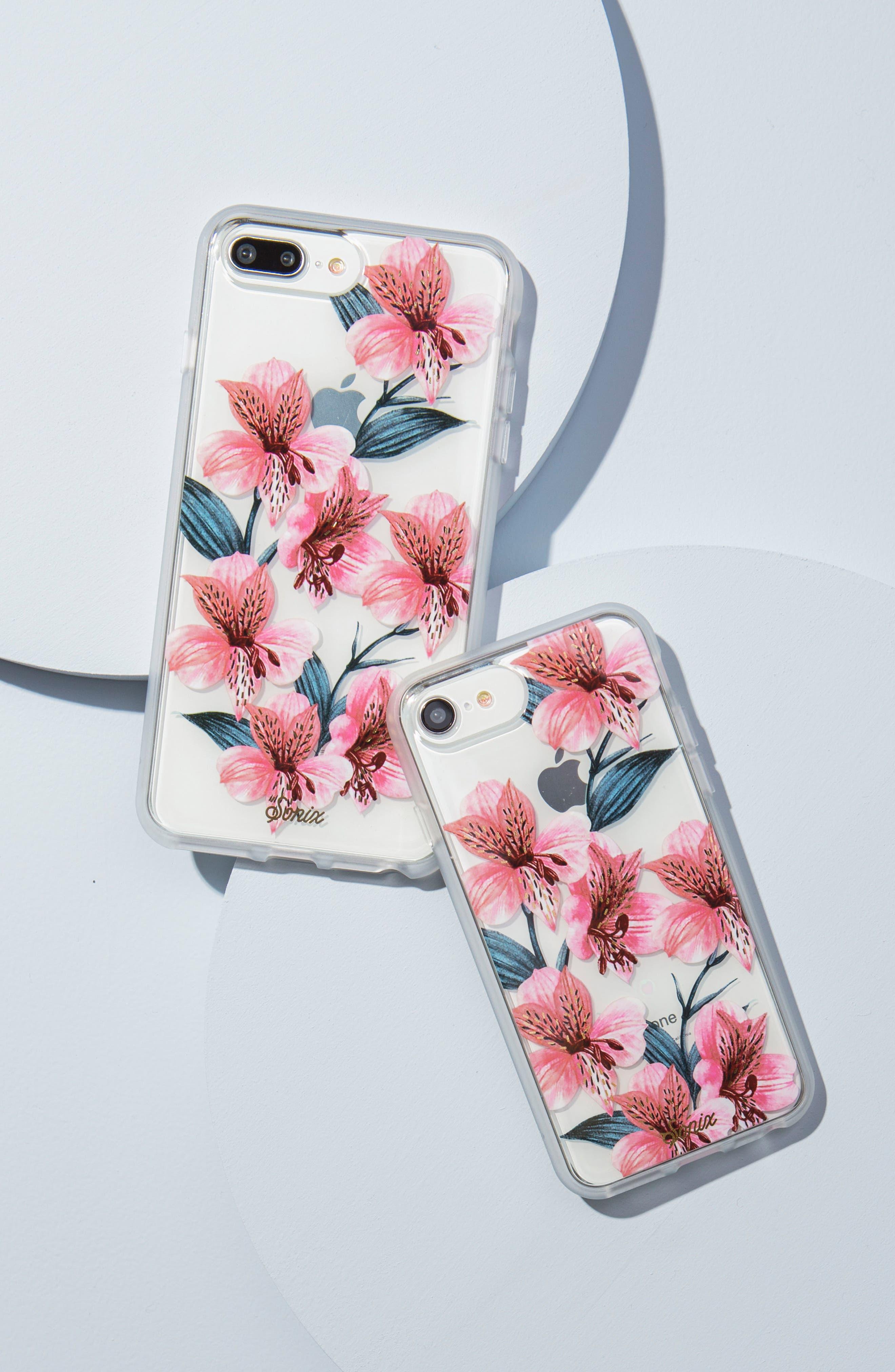 Tiger Lily iPhone 6/6s/7/8 & 6/6s/7/8 Plus Case,                             Alternate thumbnail 5, color,                             650
