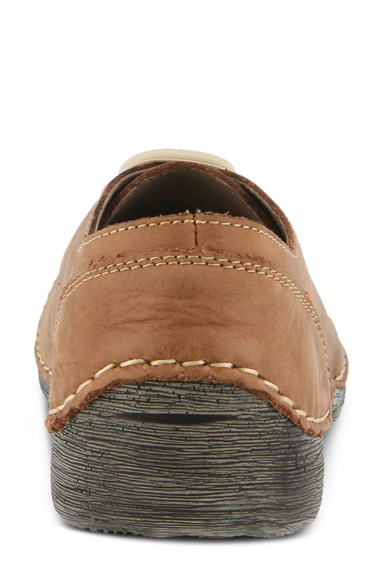 Carhop Sneaker,                             Alternate thumbnail 6, color,                             BROWN LEATHER