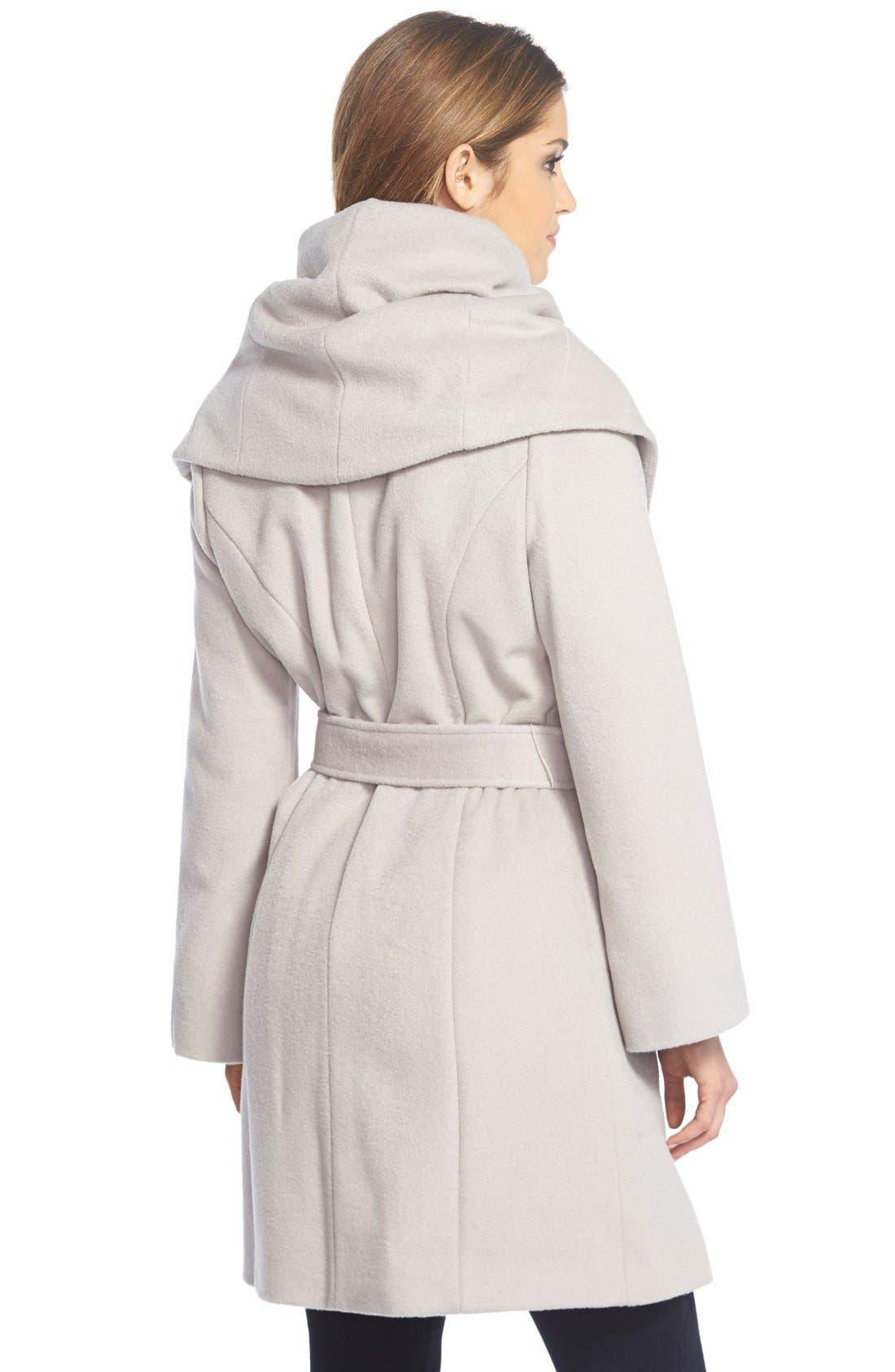 T Tahari Wool Blend Belted Wrap Coat,                             Alternate thumbnail 26, color,