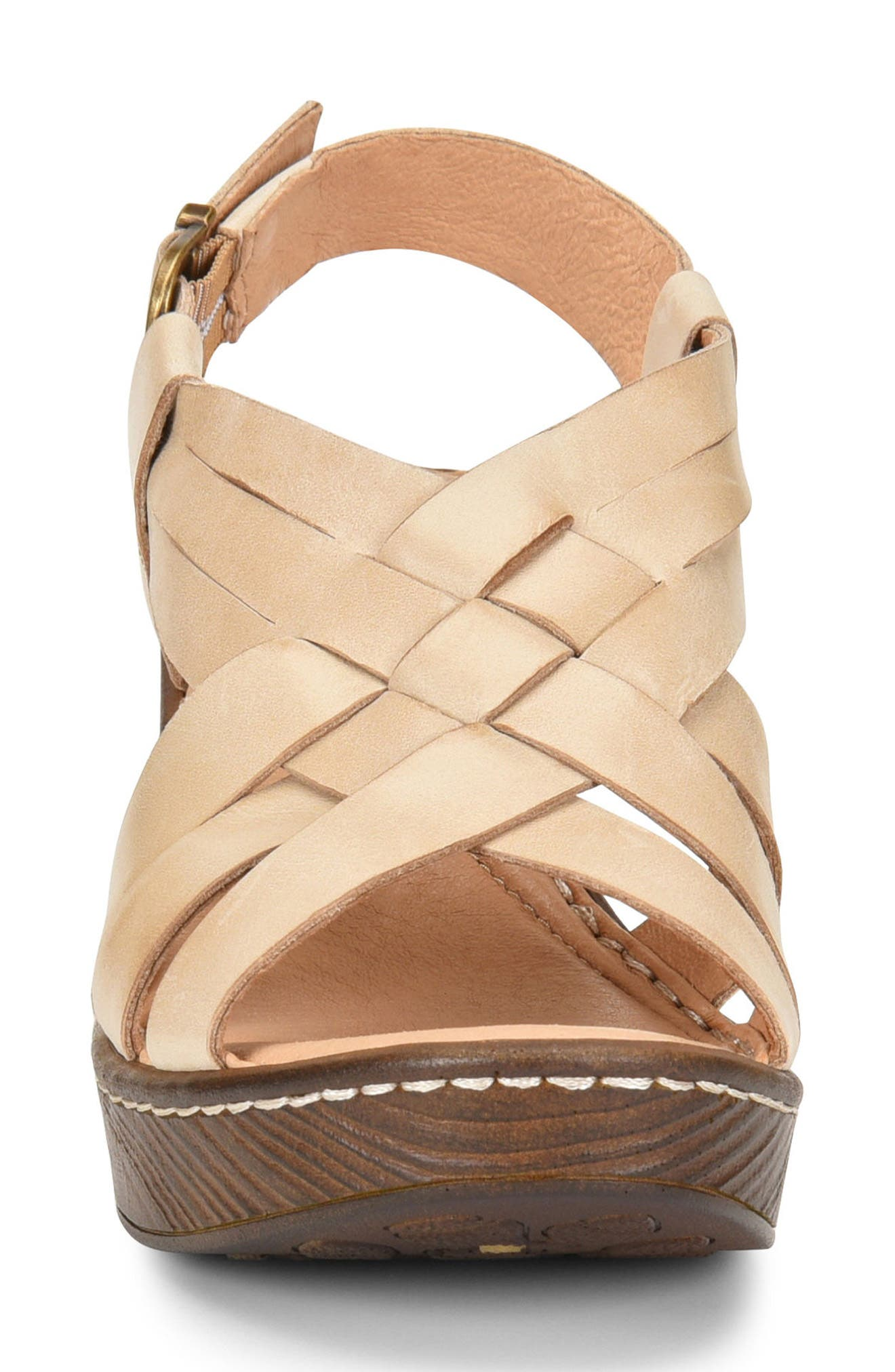 Crevalle Platform Sandal,                             Alternate thumbnail 4, color,                             LIGHT TAN LEATHER
