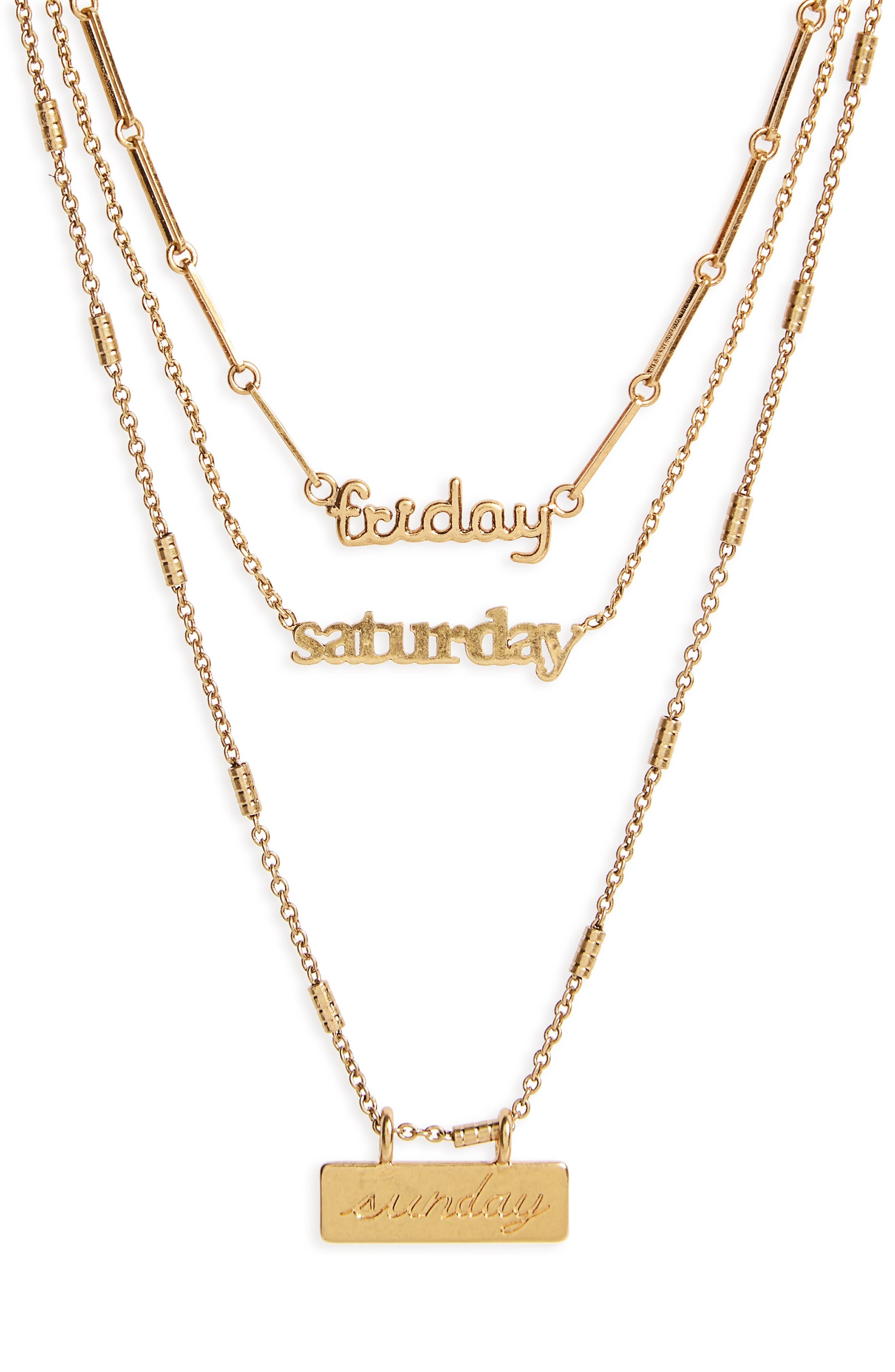 Friday Saturday Sunday Necklace Set,                             Main thumbnail 1, color,                             710