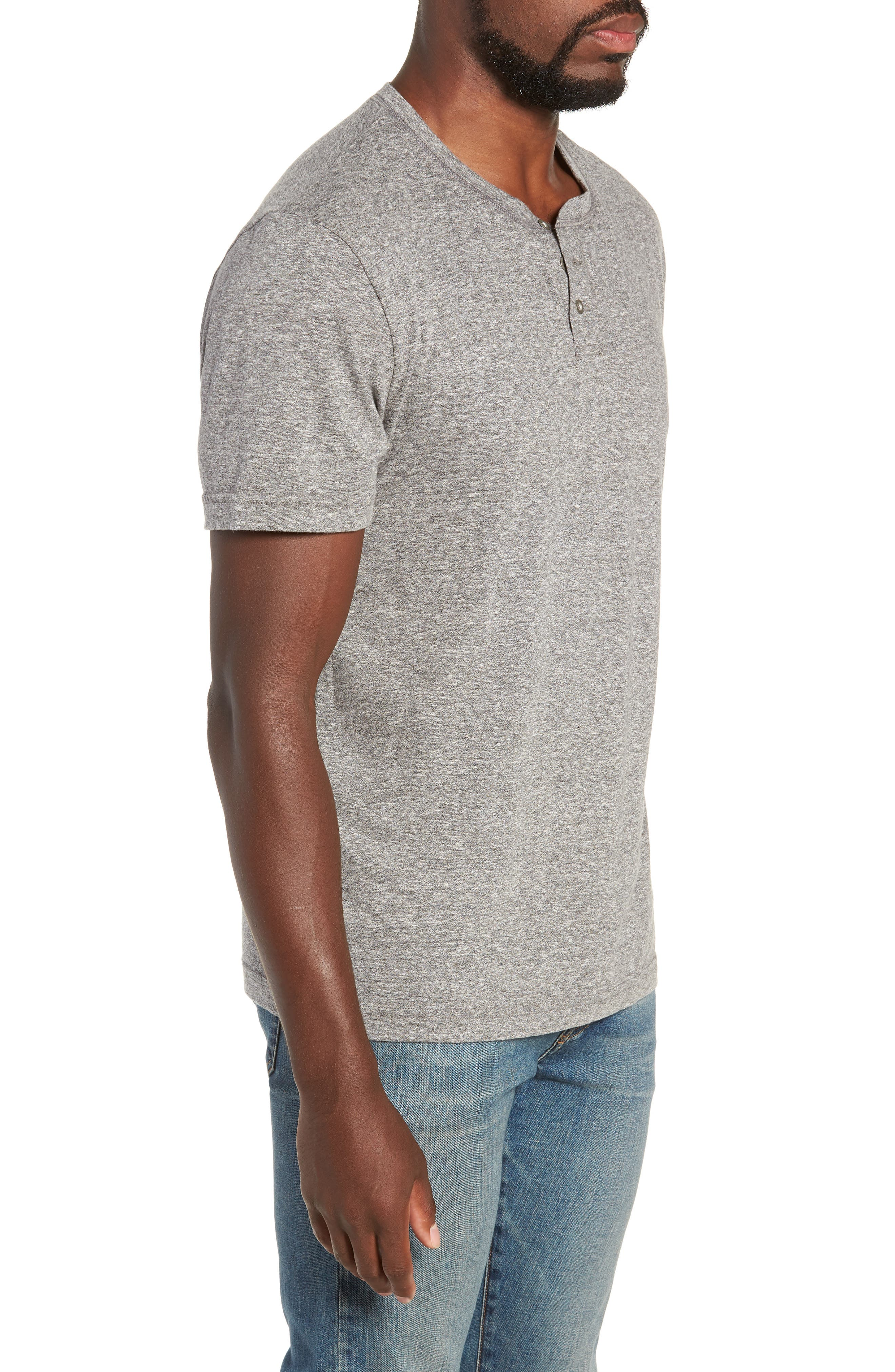 Triblend Henley Shirt,                             Alternate thumbnail 3, color,                             020