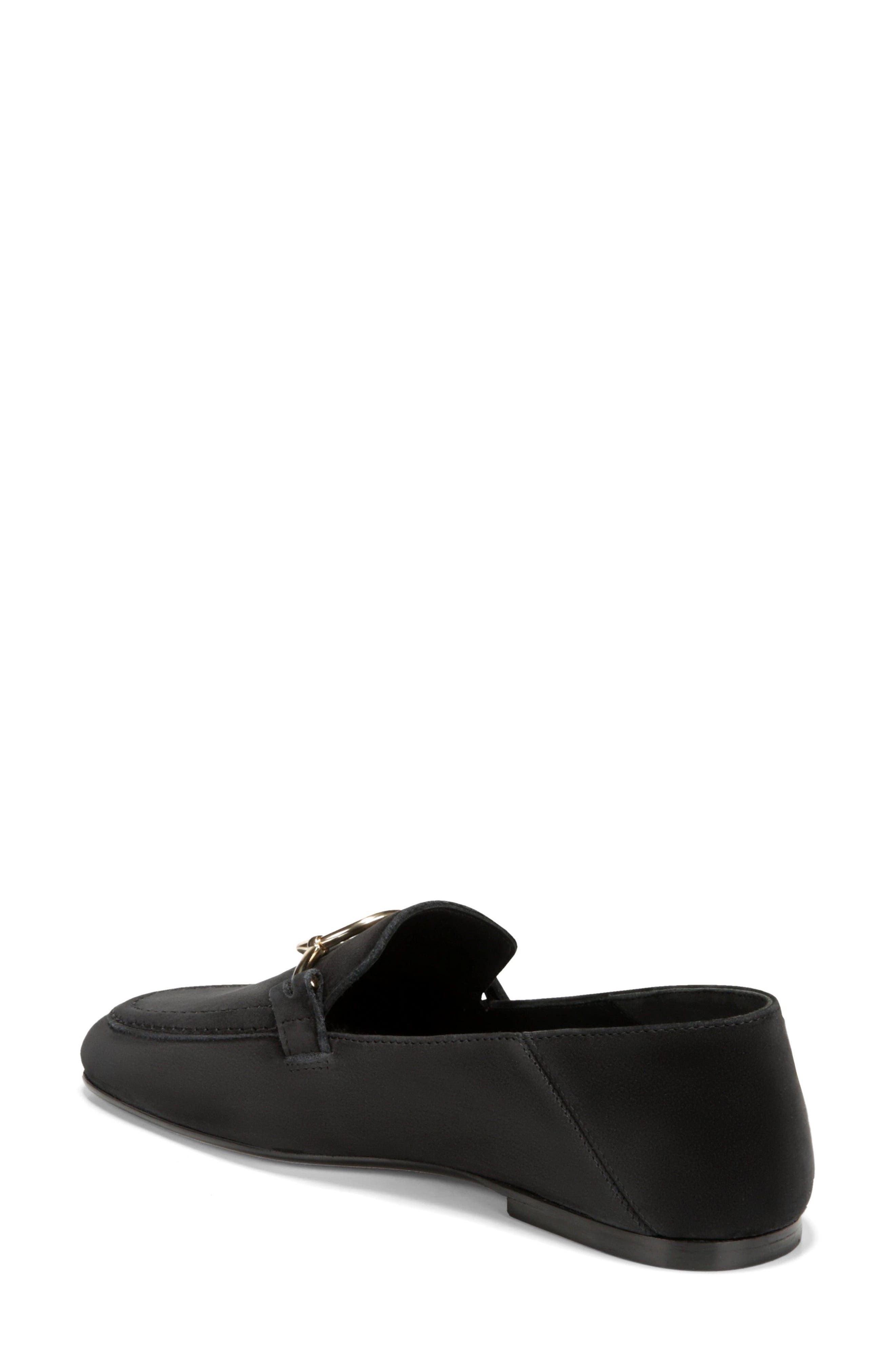 Abby Loafer,                             Alternate thumbnail 2, color,                             BLACK NUBUCK LEATHER