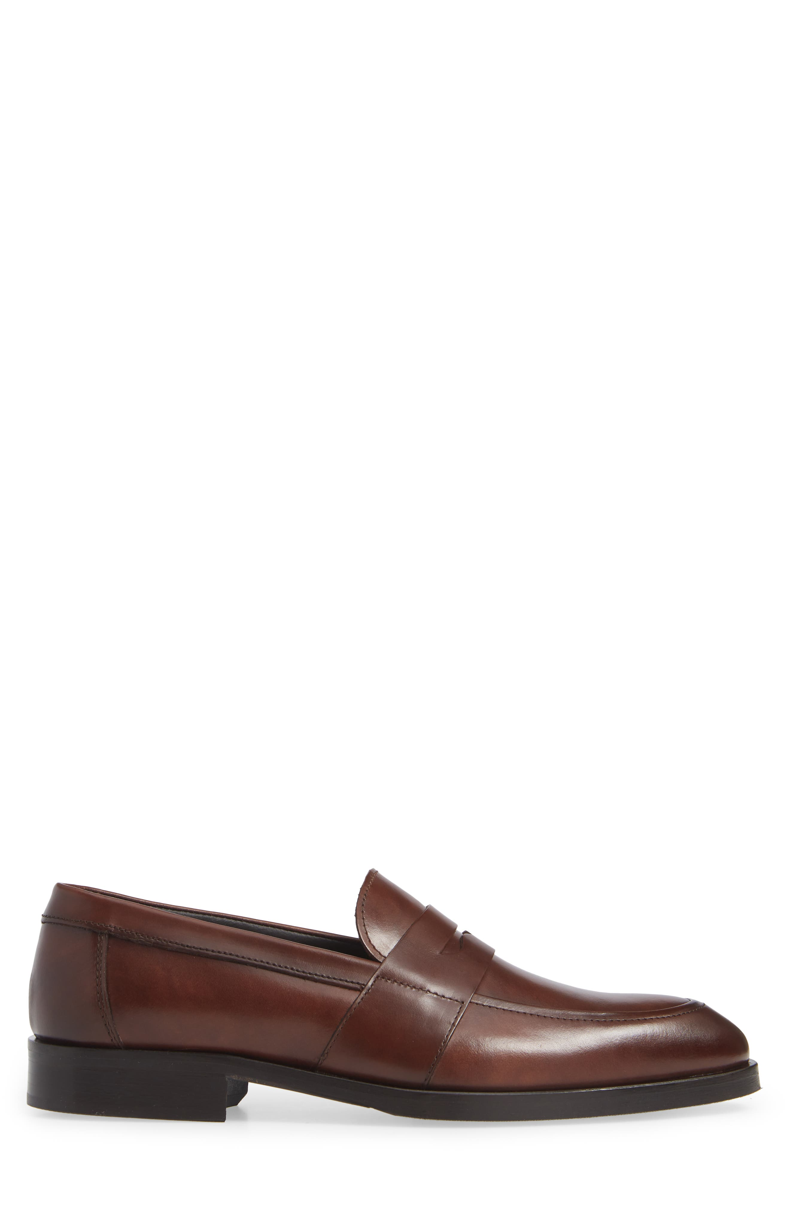 Devries Penny Loafer,                             Alternate thumbnail 3, color,                             VITELLO BRUCIATO LEATHER