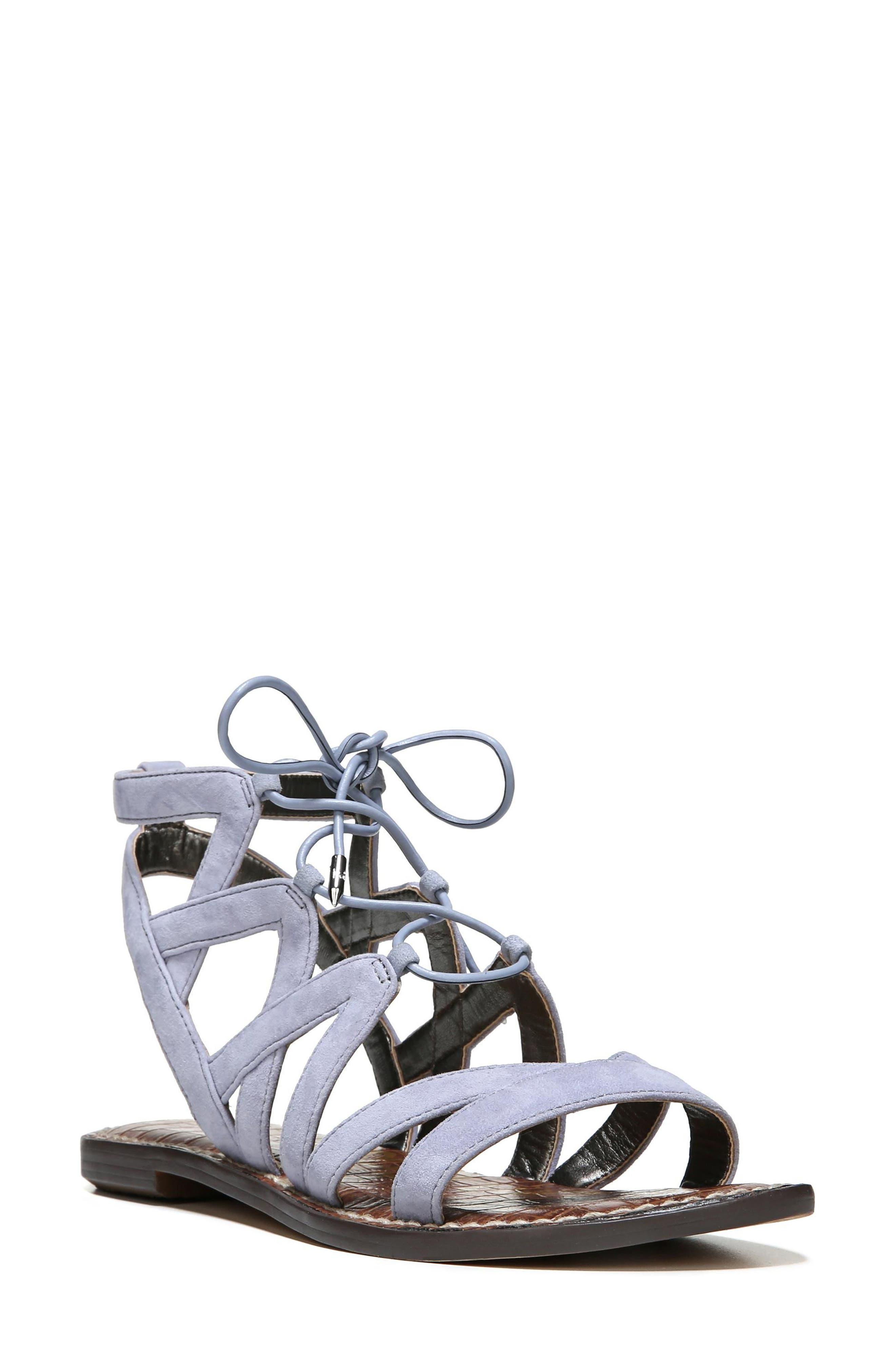 SAM EDELMAN Gemma Lace-Up Sandal, Main, color, 401