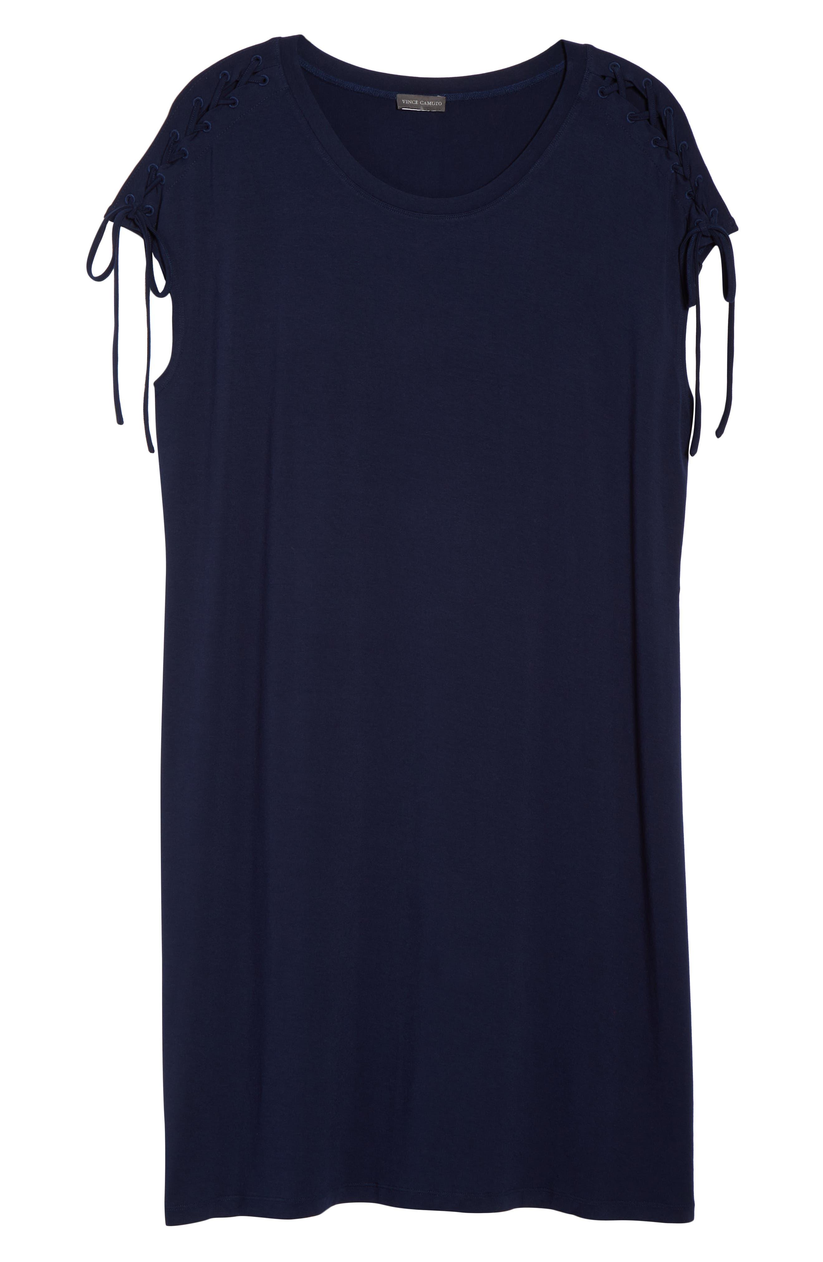 VINCE CAMUTO,                             Lace-Up Shoulder T-Shirt Dress,                             Alternate thumbnail 7, color,                             461