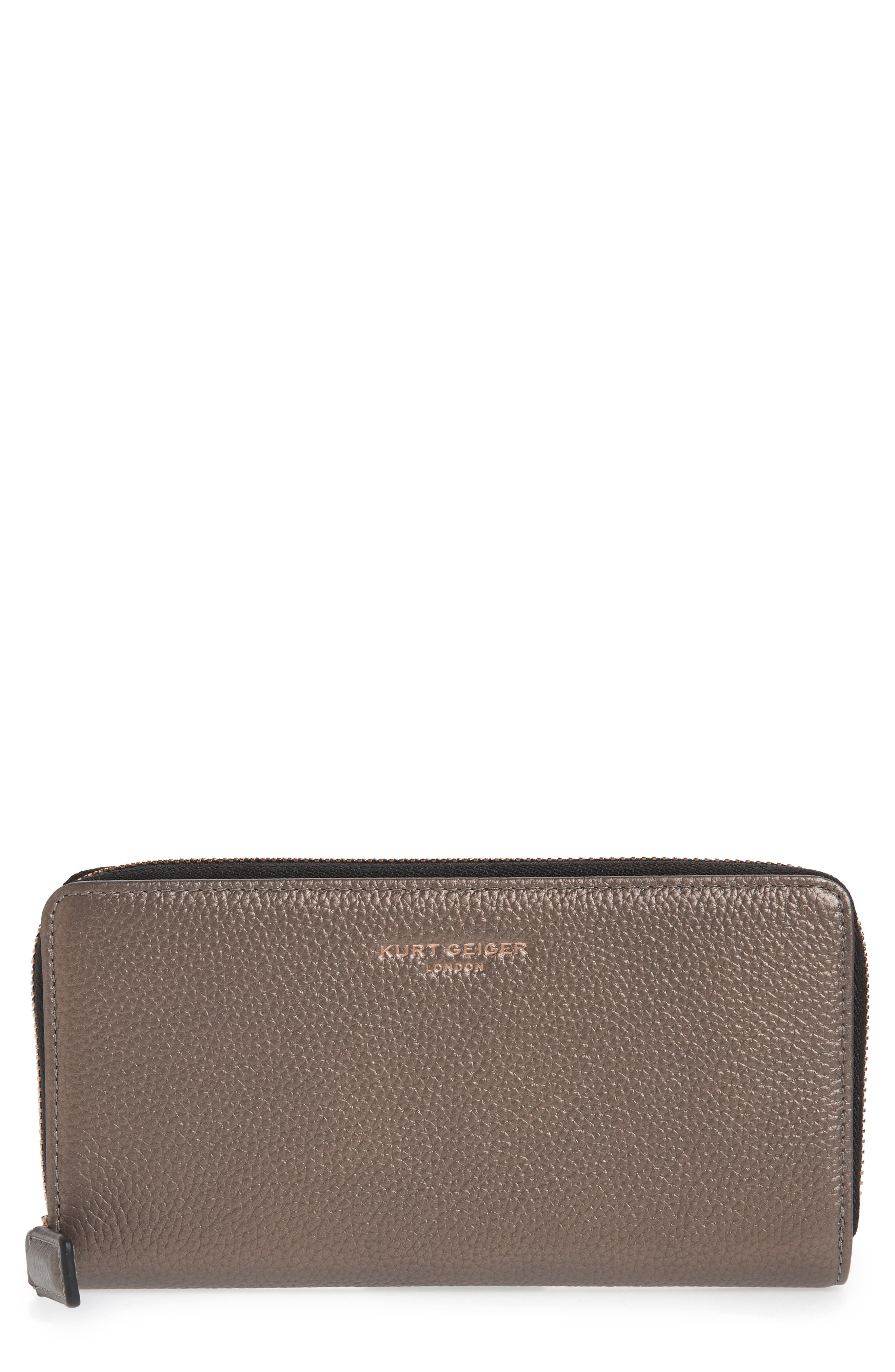 Zip Around Leather Wallet,                             Main thumbnail 2, color,