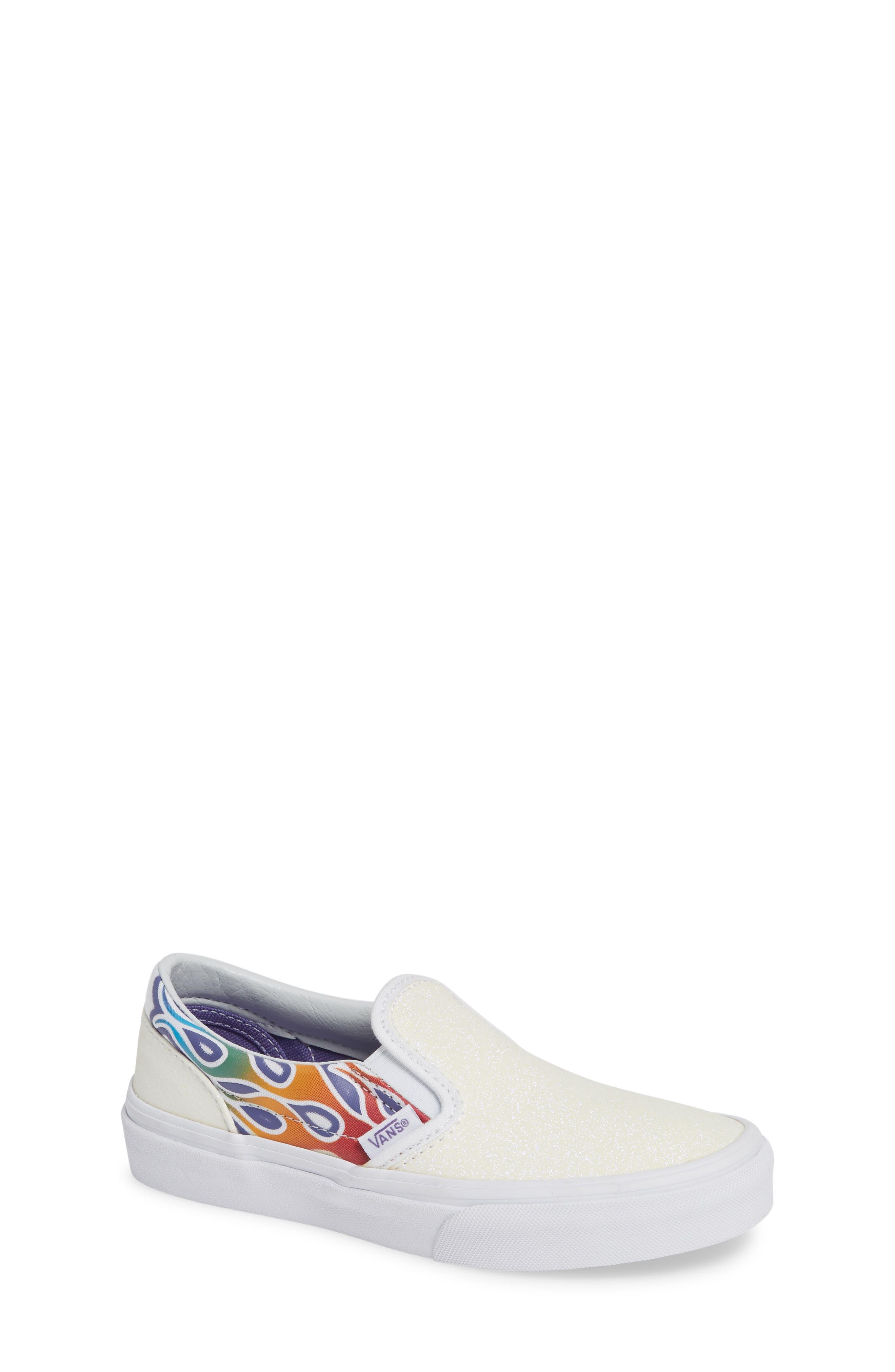 VANS Classic Slip-On Glitter Sneaker, Main, color, 110