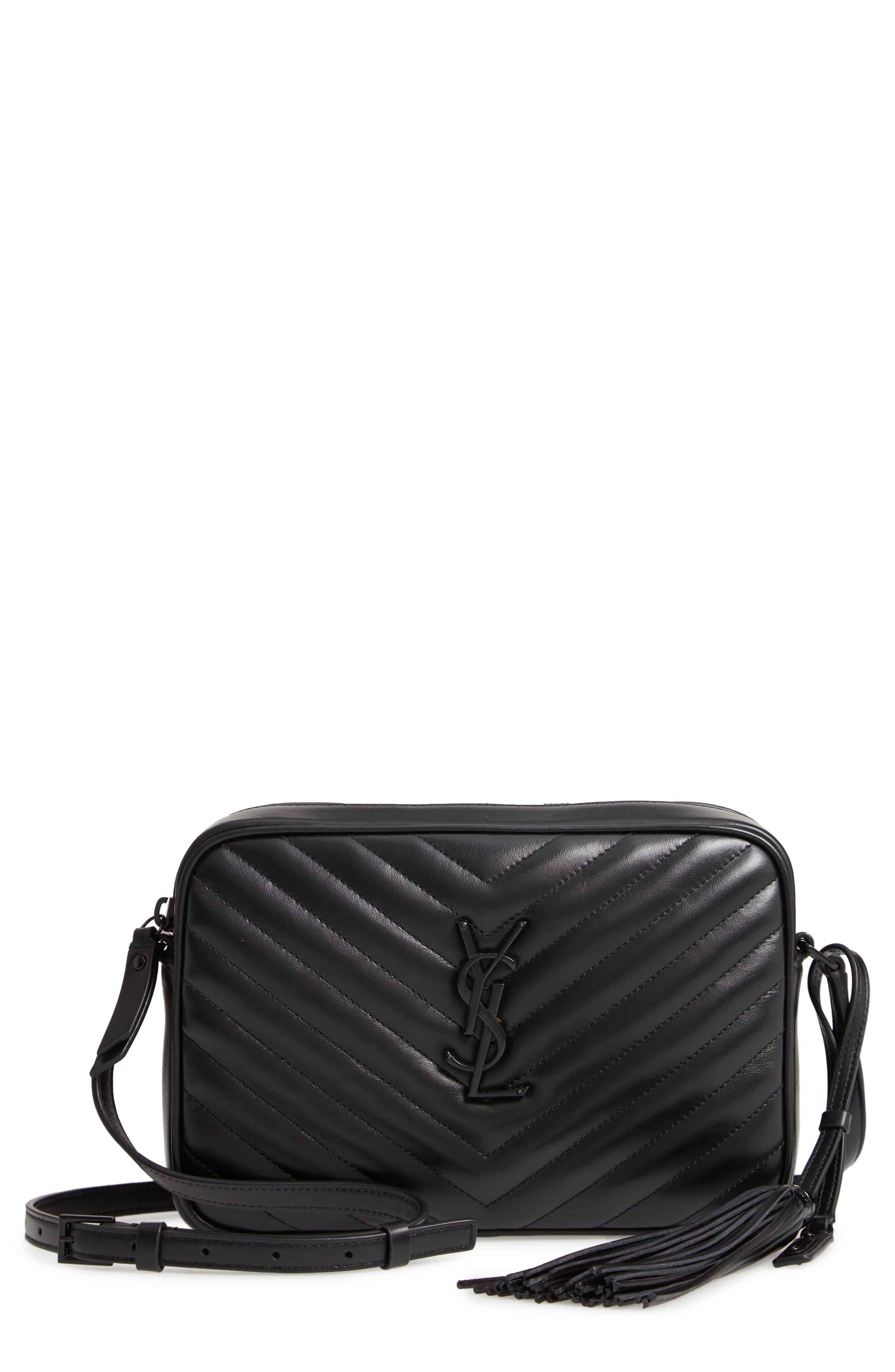 b574a703b86 Saint Laurent Loulou Monogram Ysl Medium Chevron Quilted Leather Camera  Shoulder Bag - Black Hardware In