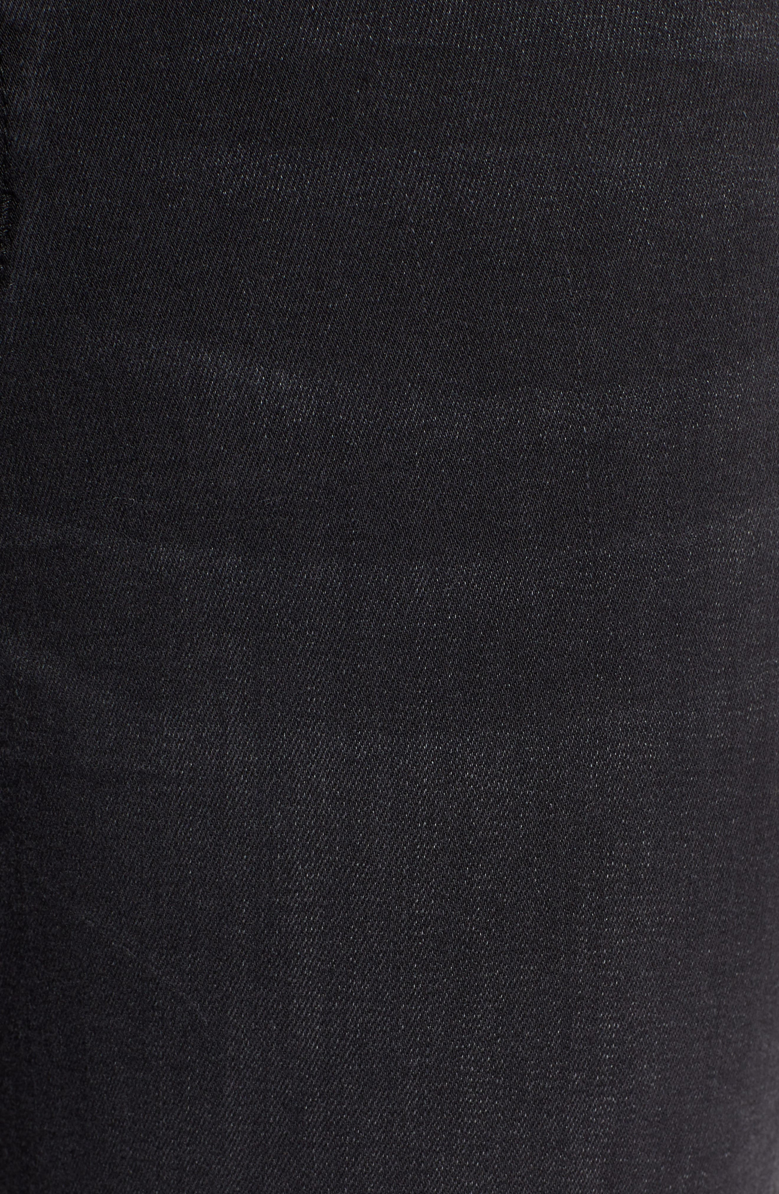 Crop Flare Jeans,                             Alternate thumbnail 5, color,                             BLACK