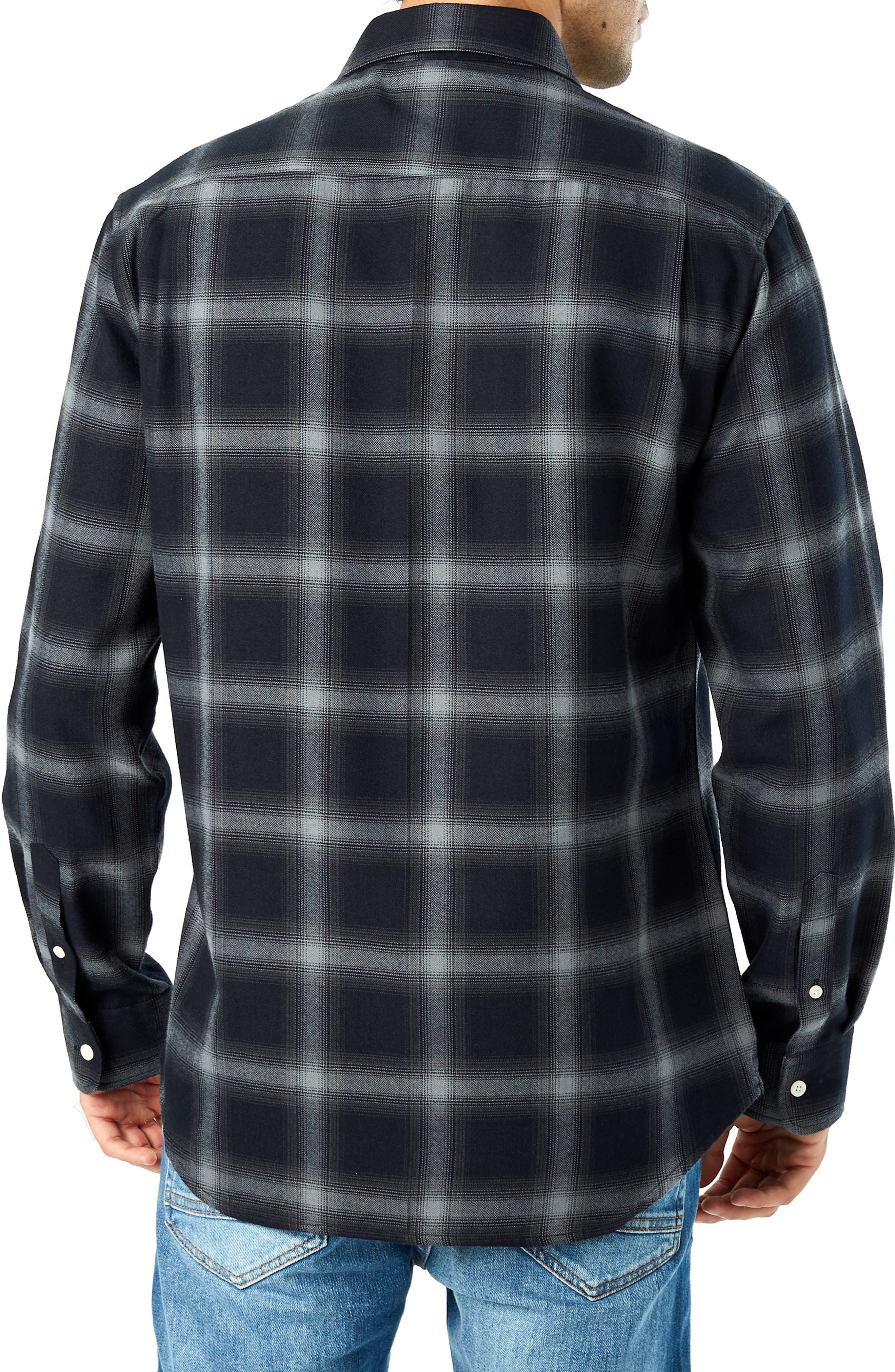 Hawk Slim Fit Sport Shirt,                             Alternate thumbnail 3, color,                             BLACK