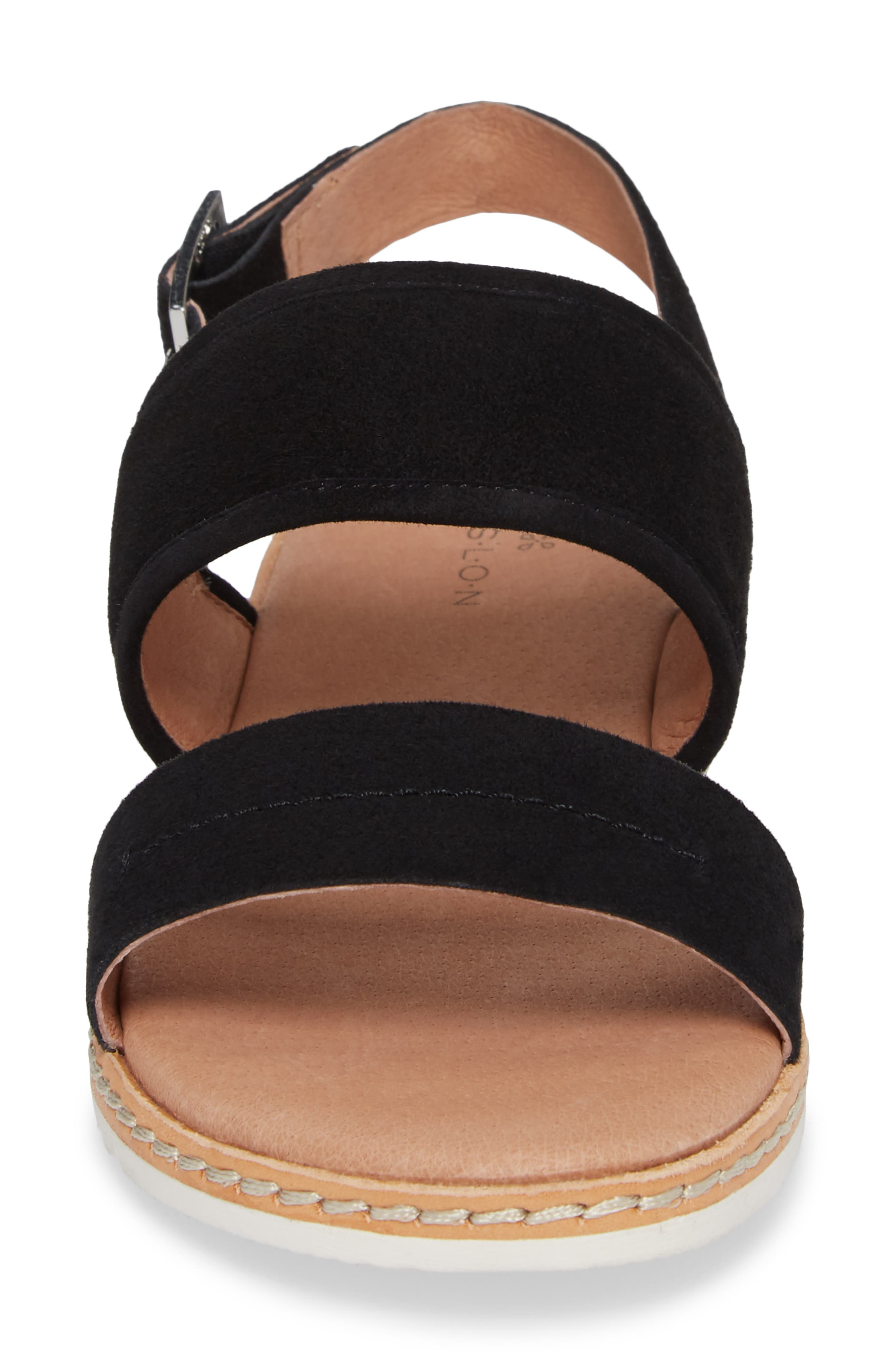 Claire Slingback Sandal,                             Alternate thumbnail 4, color,                             001