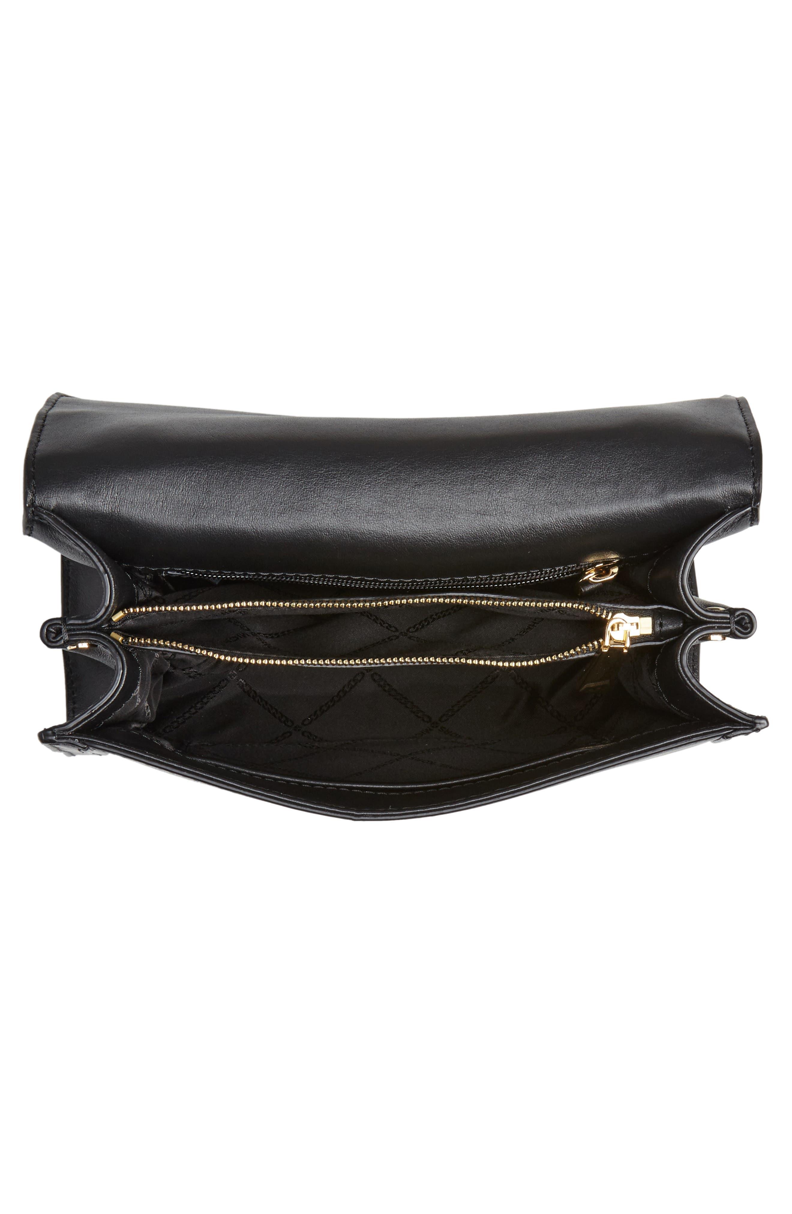 MICHAEL MICHAEL KORS,                             Large Whitney Leather Shoulder Bag,                             Alternate thumbnail 4, color,                             BLACK