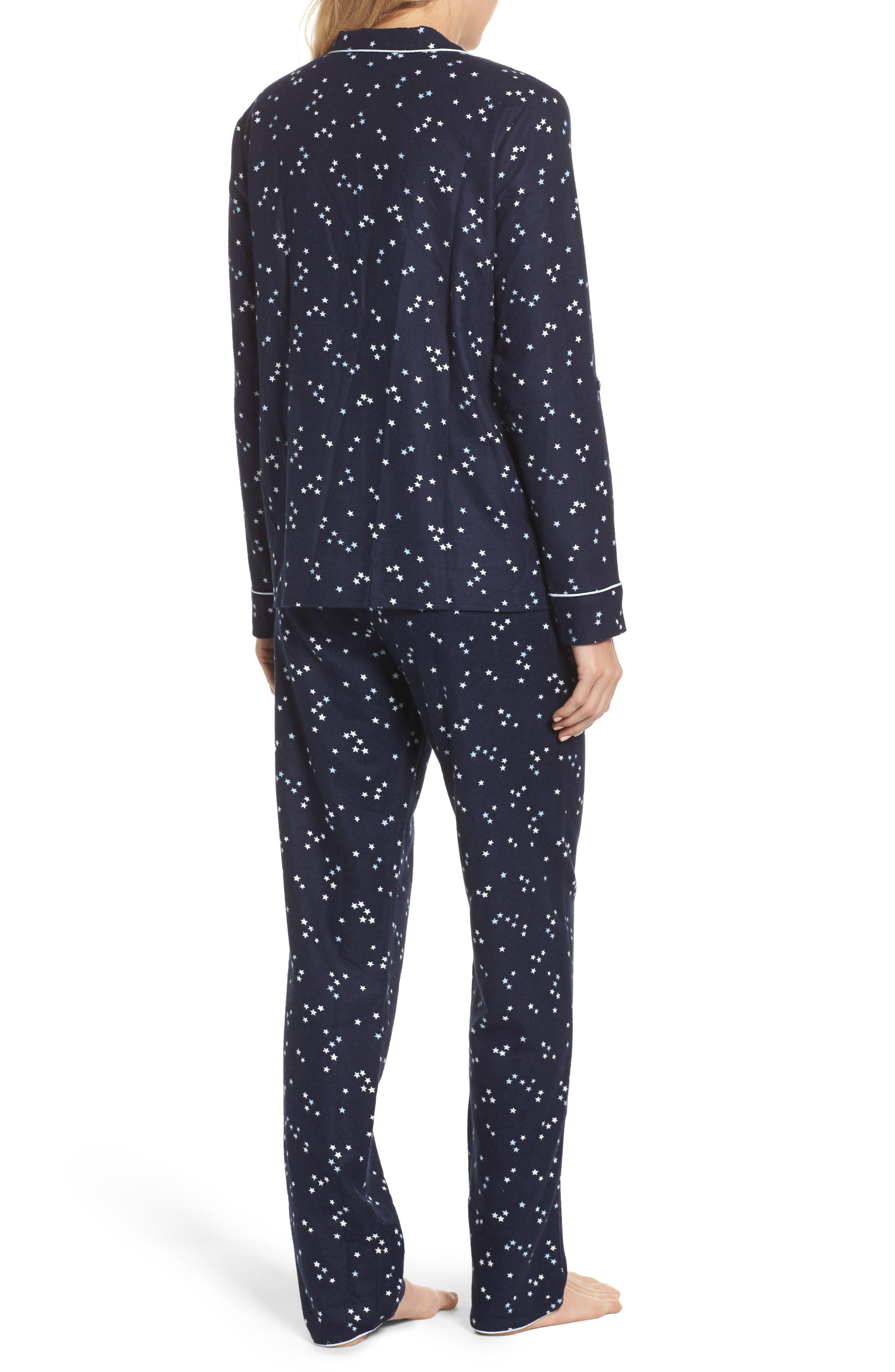 Lingerie Starlight Flannel Pajamas,                             Alternate thumbnail 8, color,