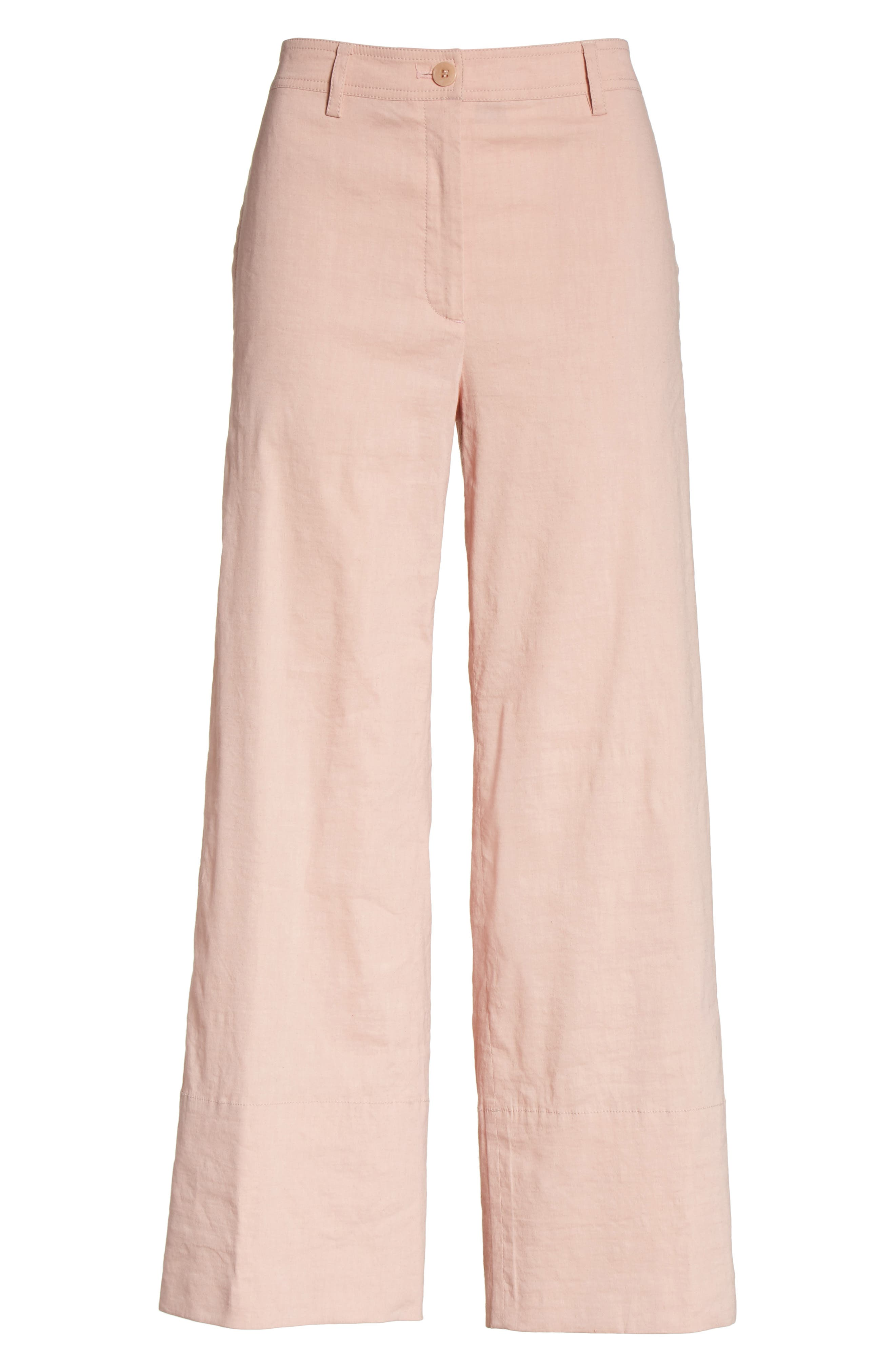 Fluid Wide Leg Crop Pants,                             Alternate thumbnail 6, color,                             658